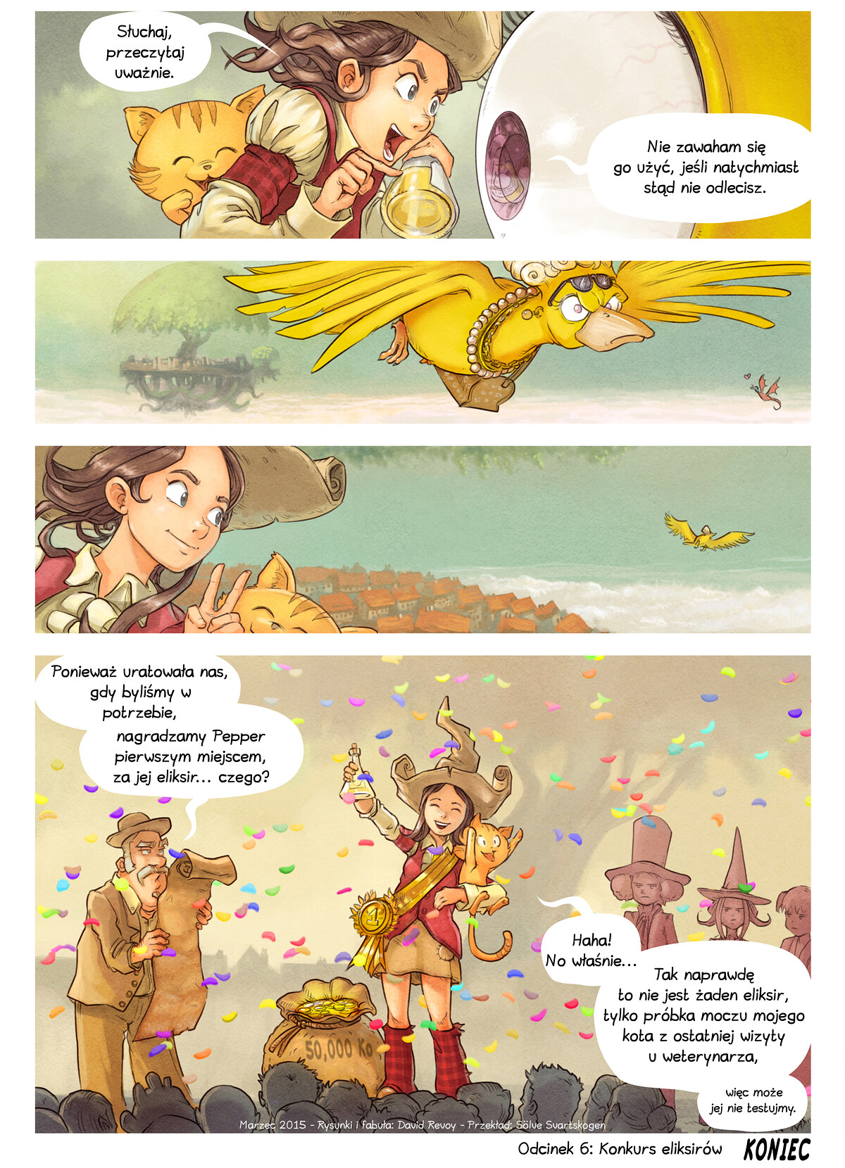 A webcomic page of Pepper&Carrot, odcinek 6 [pl], strona 9