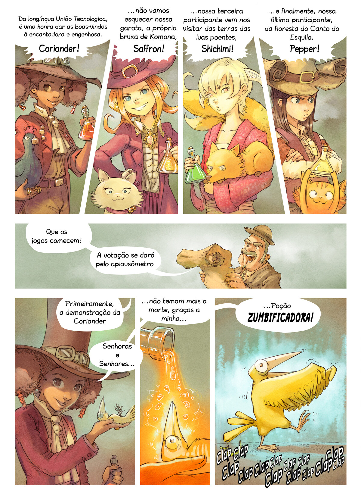 A webcomic page of Pepper&Carrot, episódio 6 [pt], página 4
