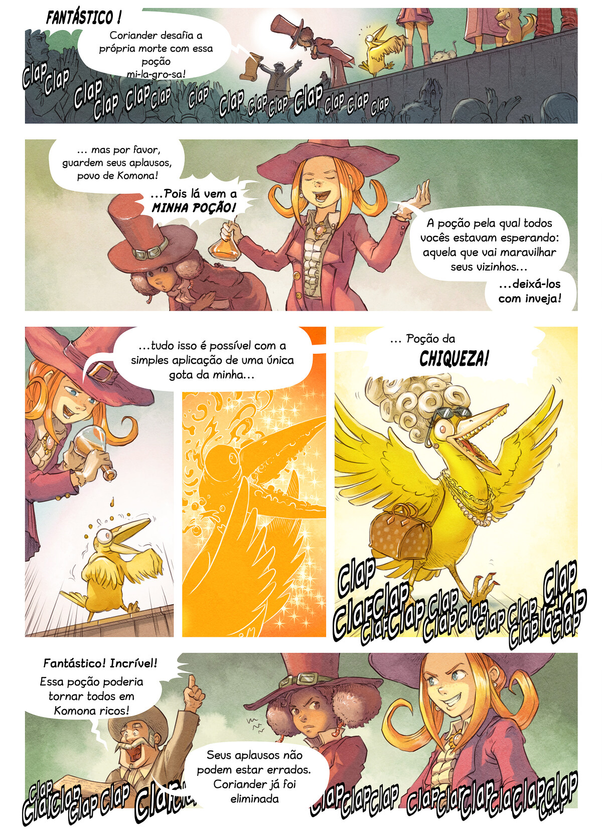A webcomic page of Pepper&Carrot, episódio 6 [pt], página 5