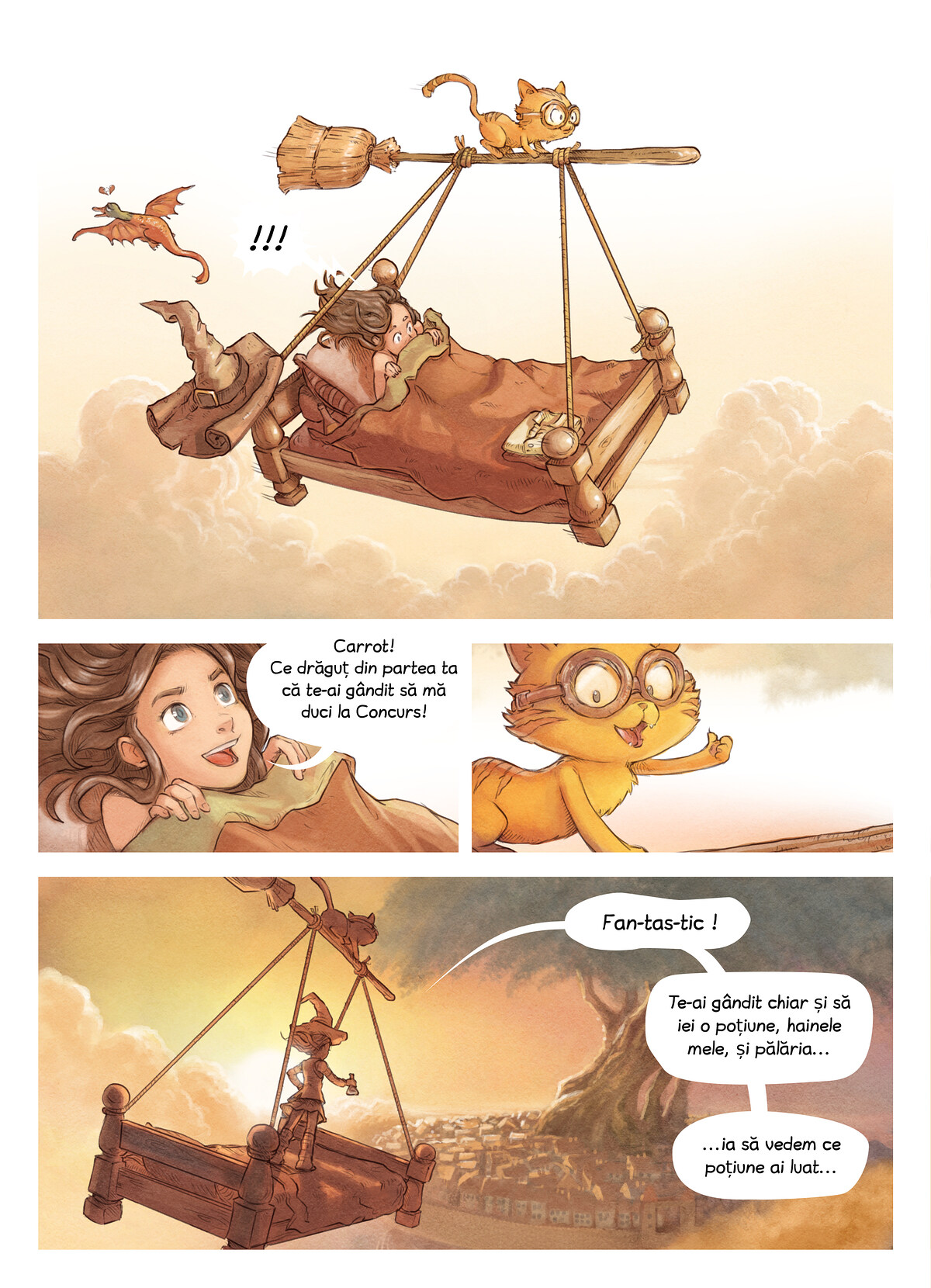 A webcomic page of Pepper&Carrot, episod 6 [ro], pagină 2