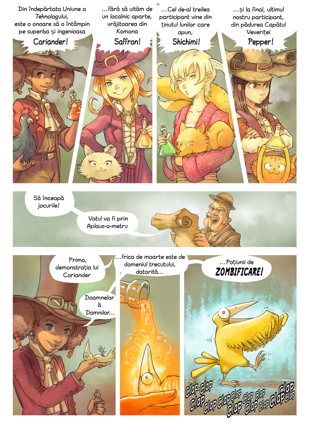 A webcomic page of Pepper&Carrot, episod 6 [ro], pagină 4