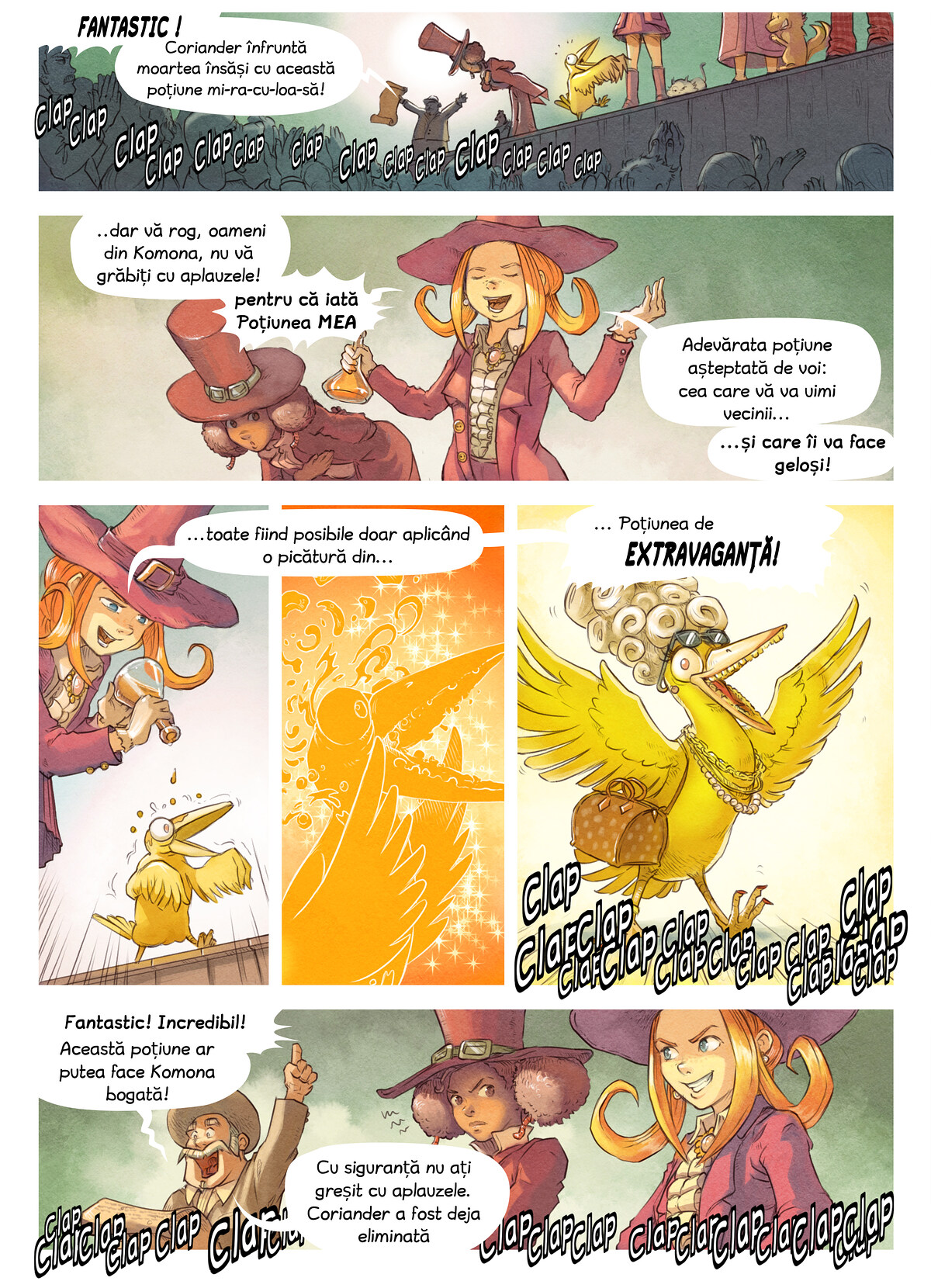 A webcomic page of Pepper&Carrot, episod 6 [ro], pagină 5