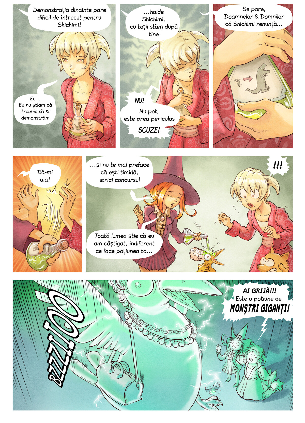 A webcomic page of Pepper&Carrot, episod 6 [ro], pagină 6