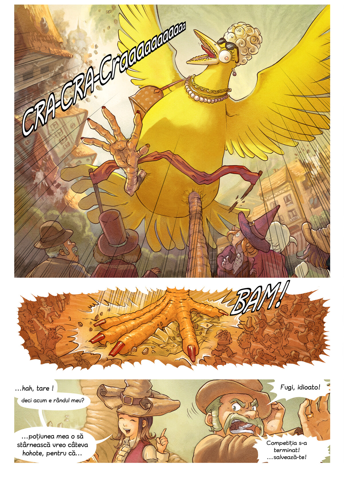 A webcomic page of Pepper&Carrot, episod 6 [ro], pagină 7