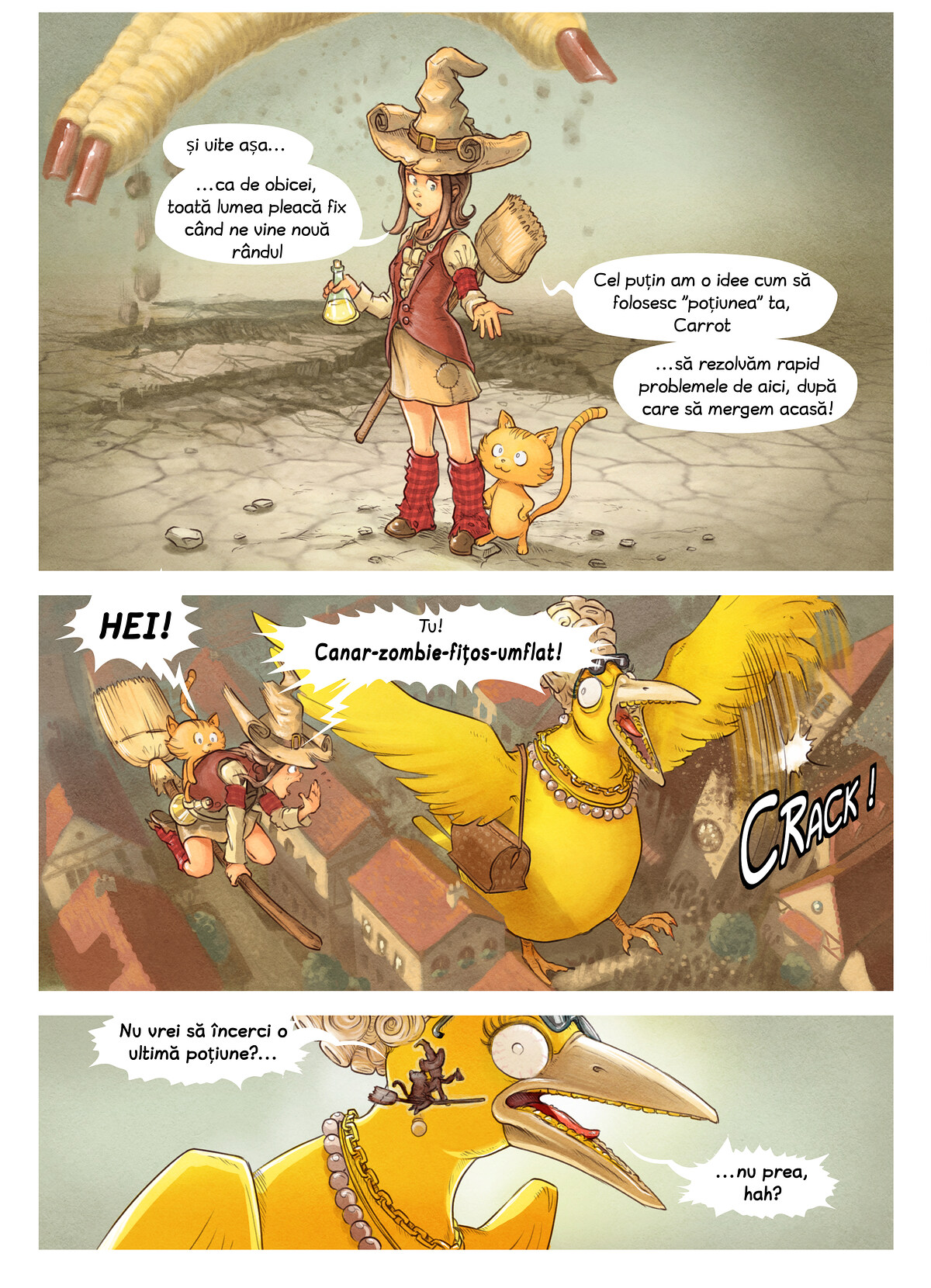 A webcomic page of Pepper&Carrot, episod 6 [ro], pagină 8
