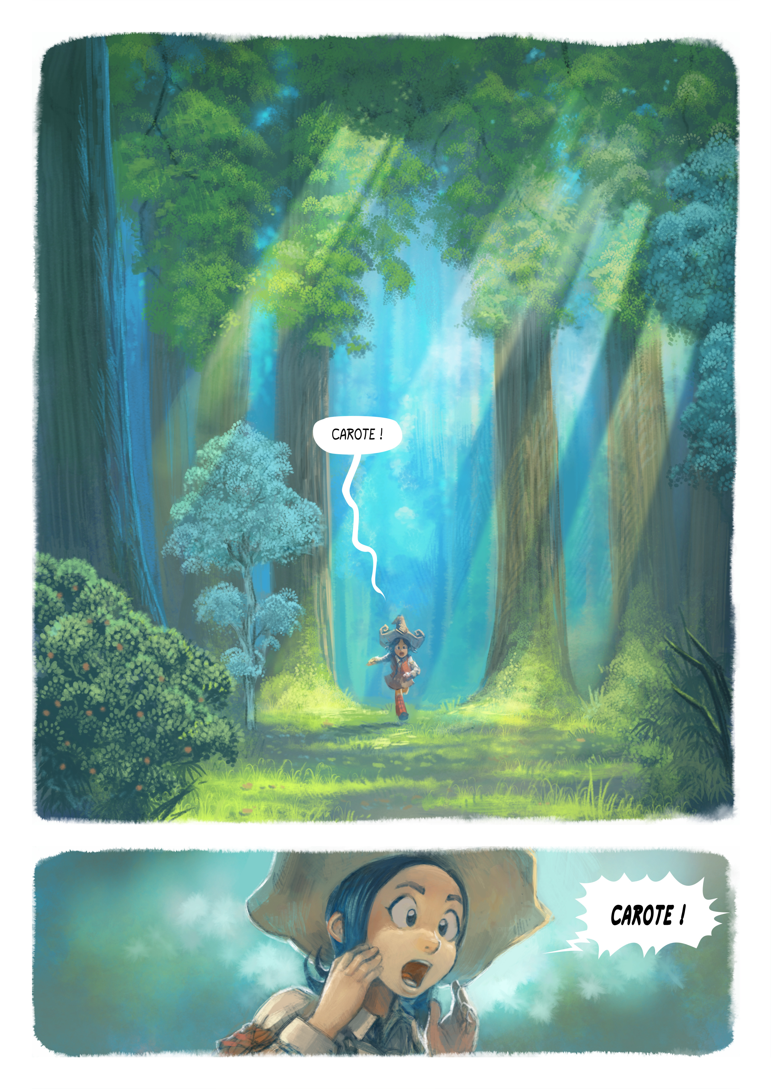 A webcomic page of Pepper&Carrot, episode 7 [go], page 1