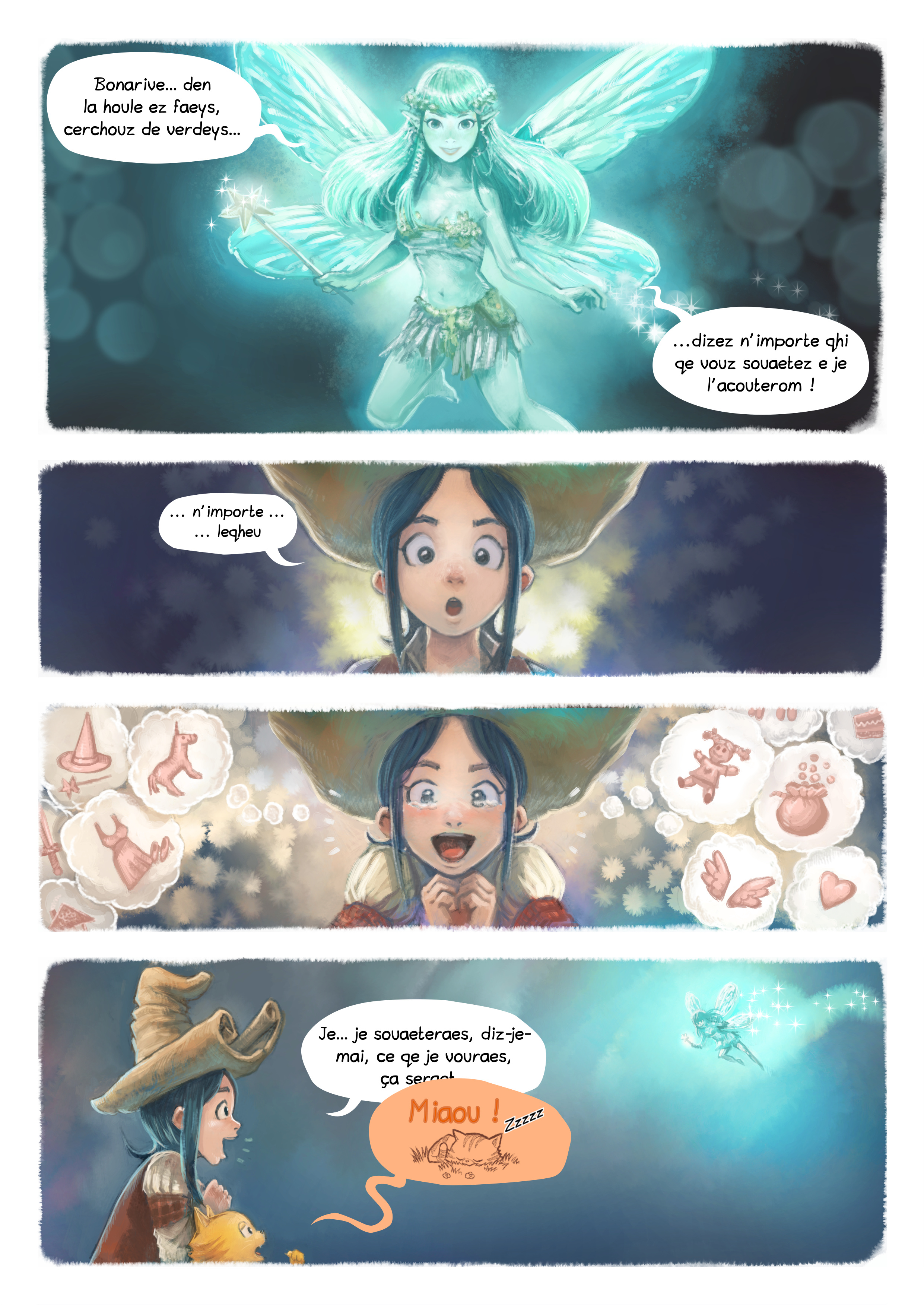 A webcomic page of Pepper&Carrot, episode 7 [go], page 4
