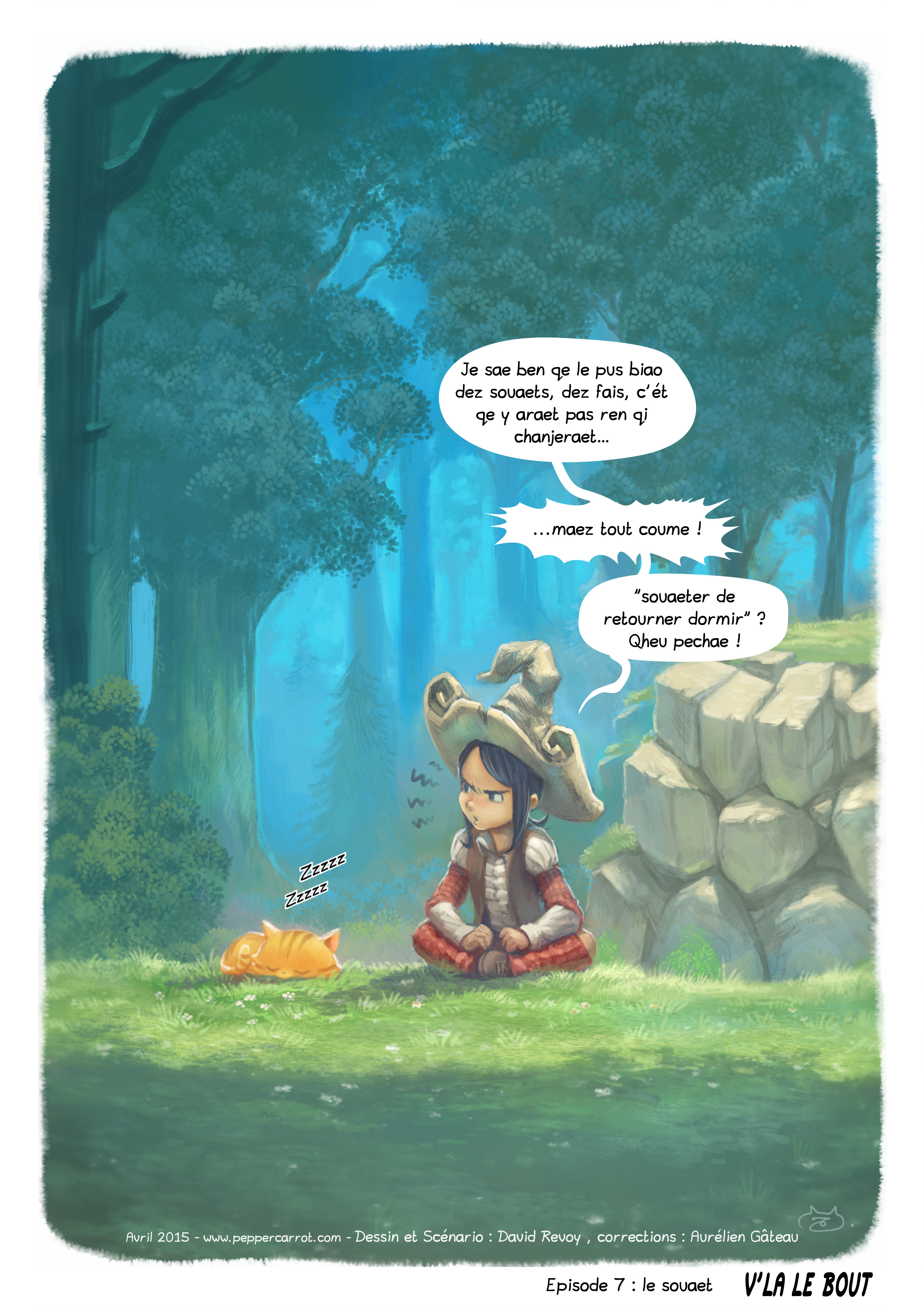 A webcomic page of Pepper&Carrot, episode 7 [go], page 5