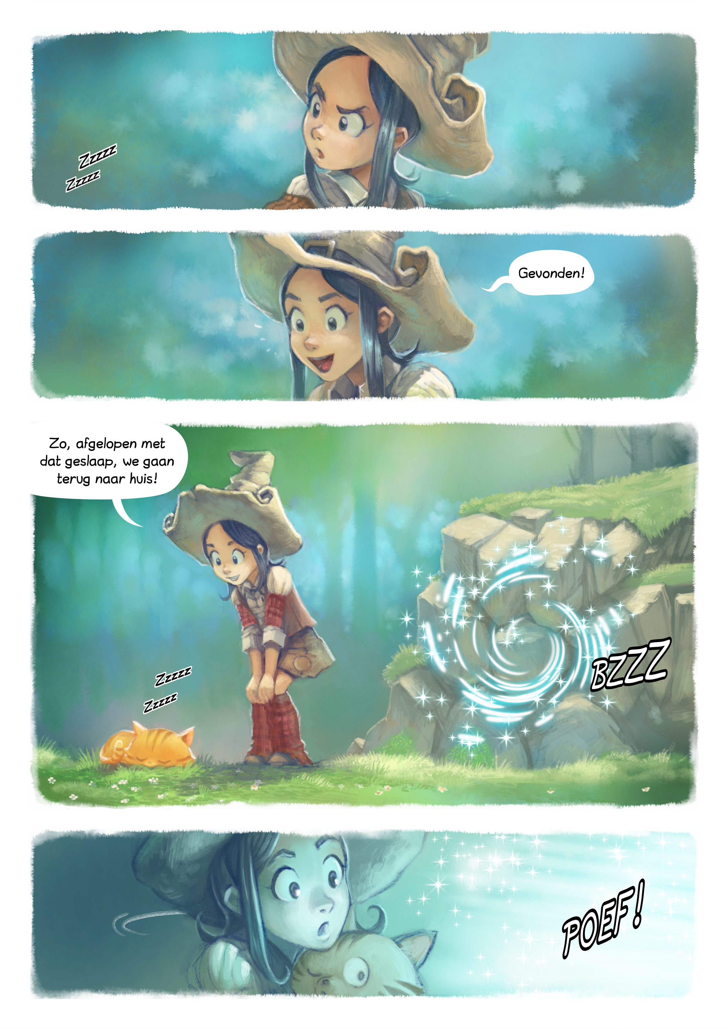 A webcomic page of Pepper&Carrot, aflevering 7 [nl], pagina 2