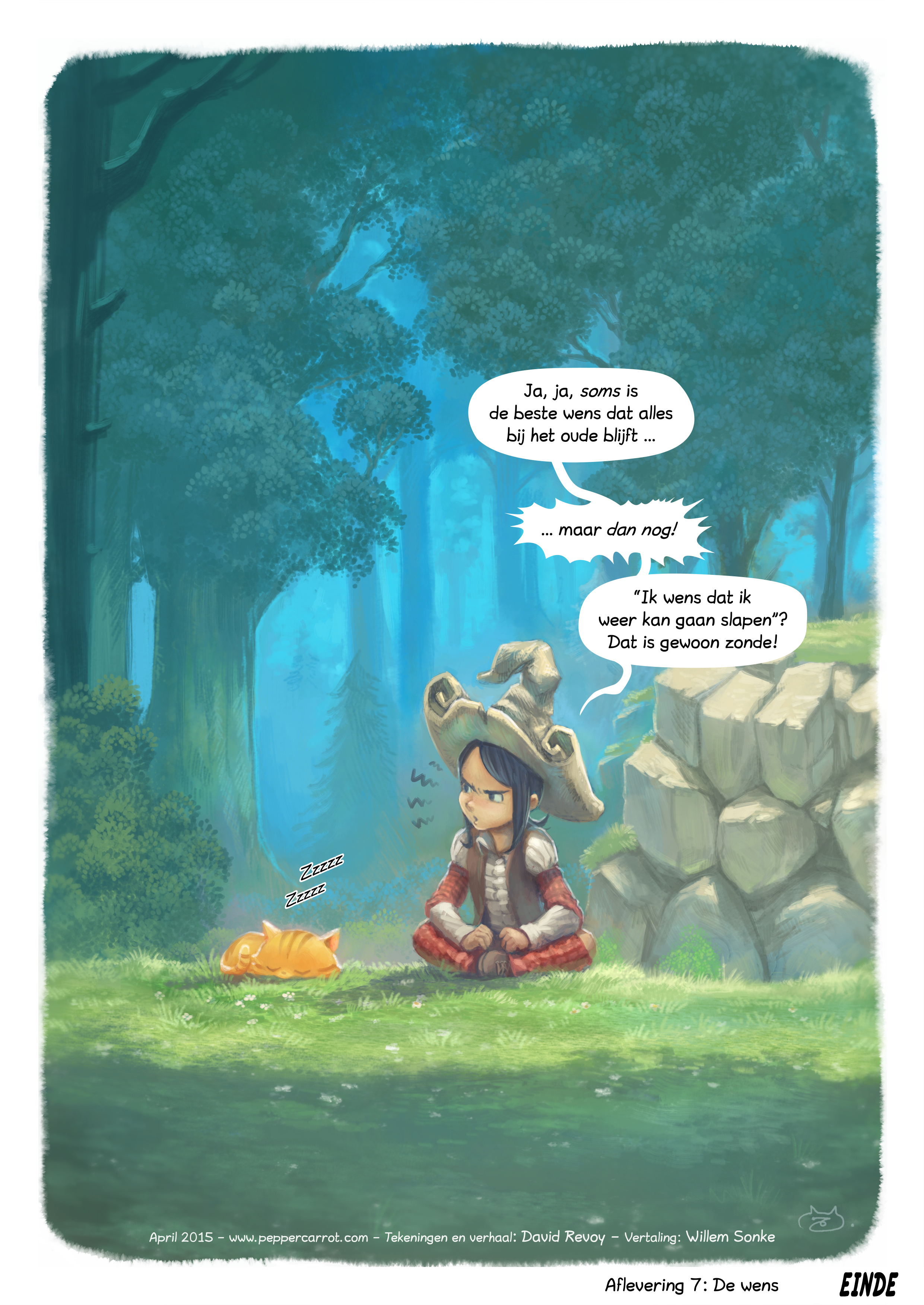 A webcomic page of Pepper&Carrot, aflevering 7 [nl], pagina 5