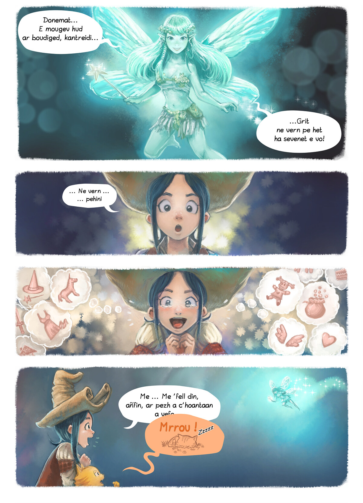 A webcomic page of Pepper&Carrot, rann 7 [br], pajenn 4