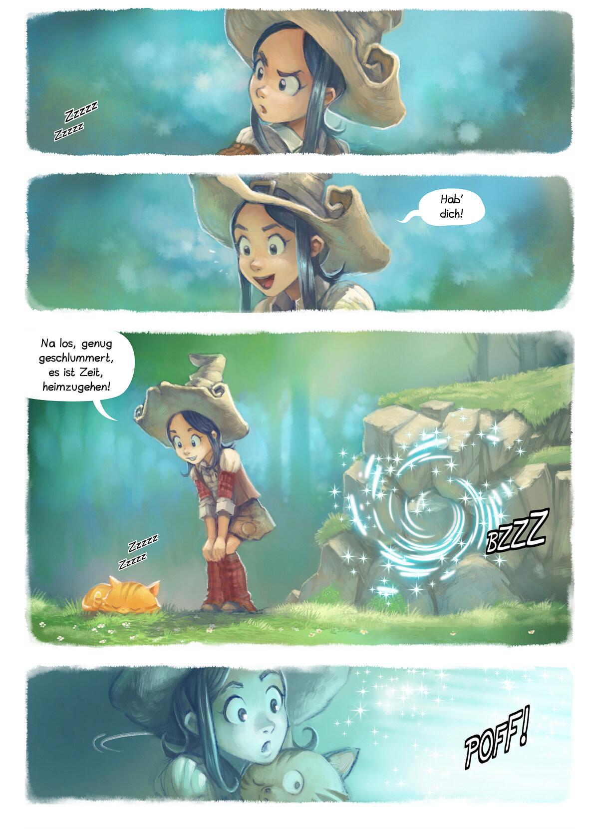 A webcomic page of Pepper&Carrot, Episode 7 [de], Seite 2