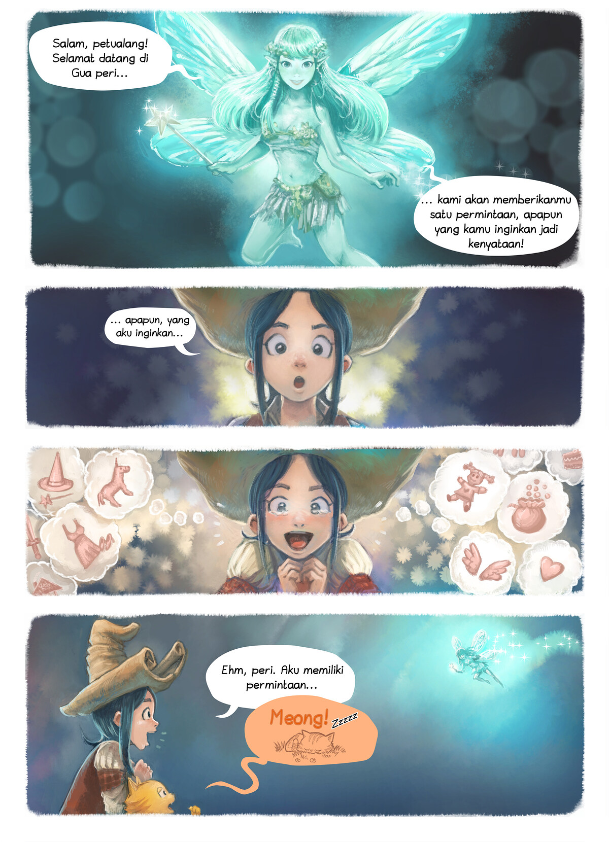 A webcomic page of Pepper&Carrot, episode 7 [id], halaman 4