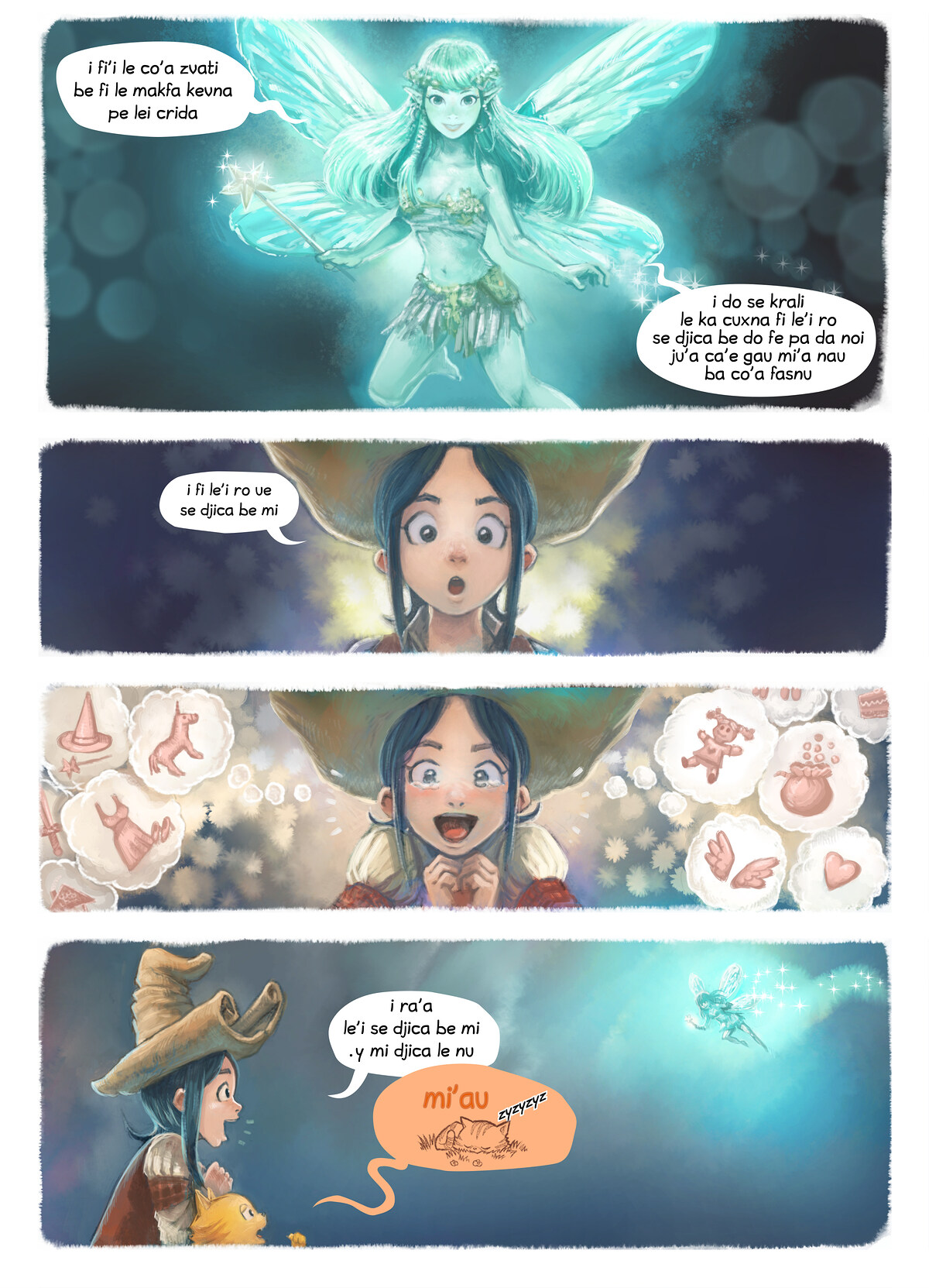 A webcomic page of Pepper&Carrot, pagbu 7 [jb], papri 4