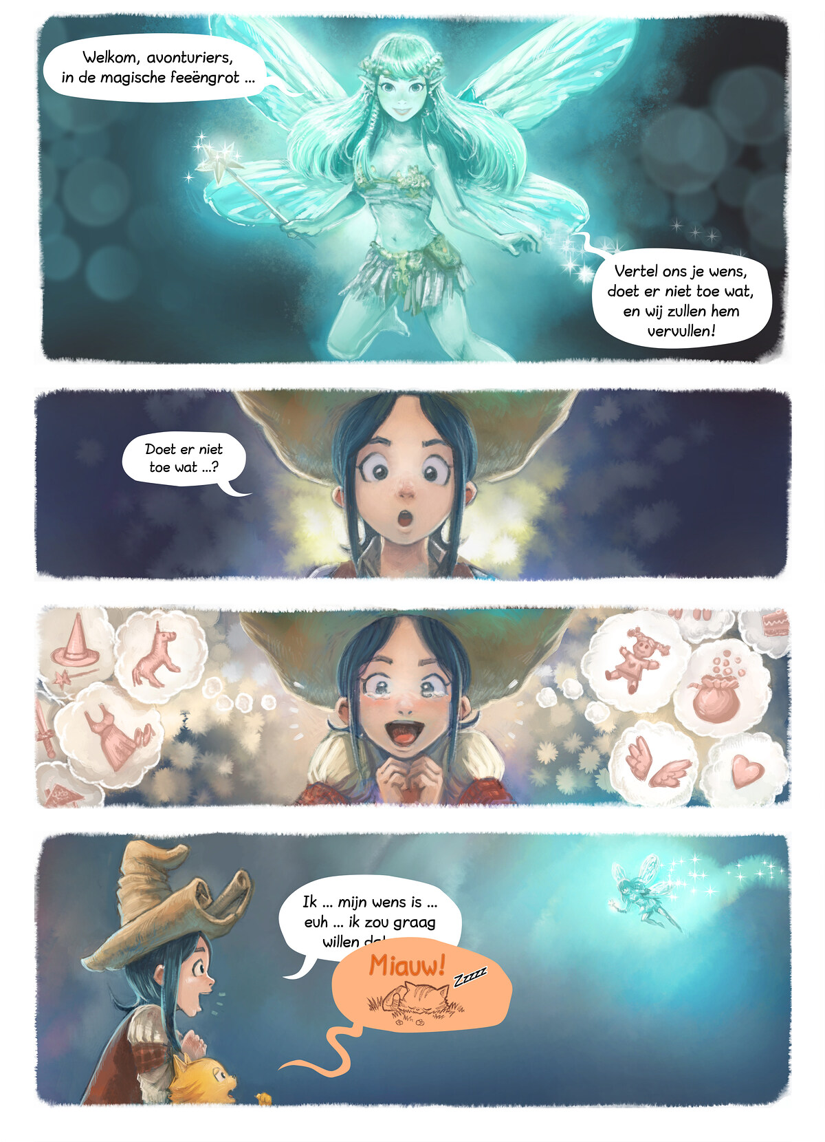 A webcomic page of Pepper&Carrot, aflevering 7 [nl], pagina 4