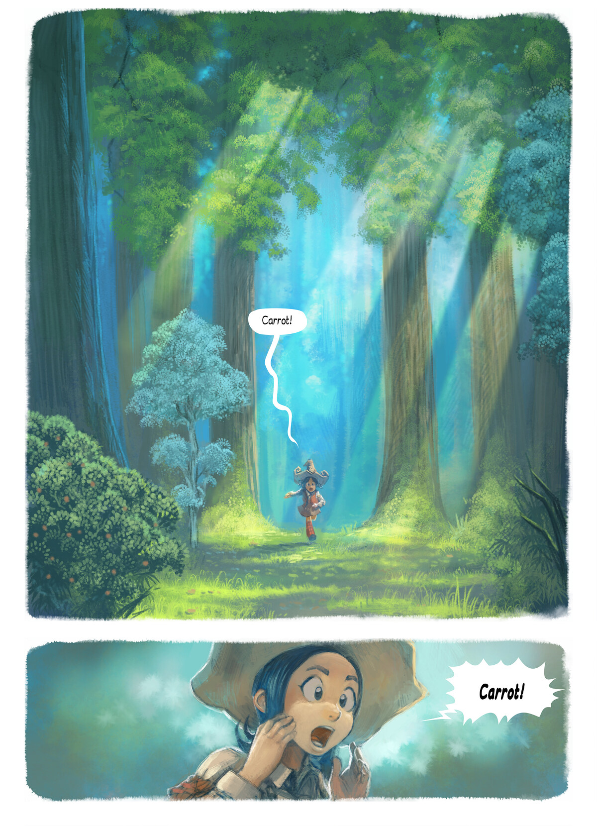 A webcomic page of Pepper&Carrot, odcinek 7 [pl], strona 1