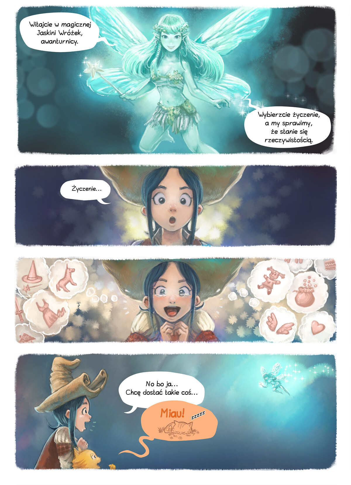 A webcomic page of Pepper&Carrot, odcinek 7 [pl], strona 4