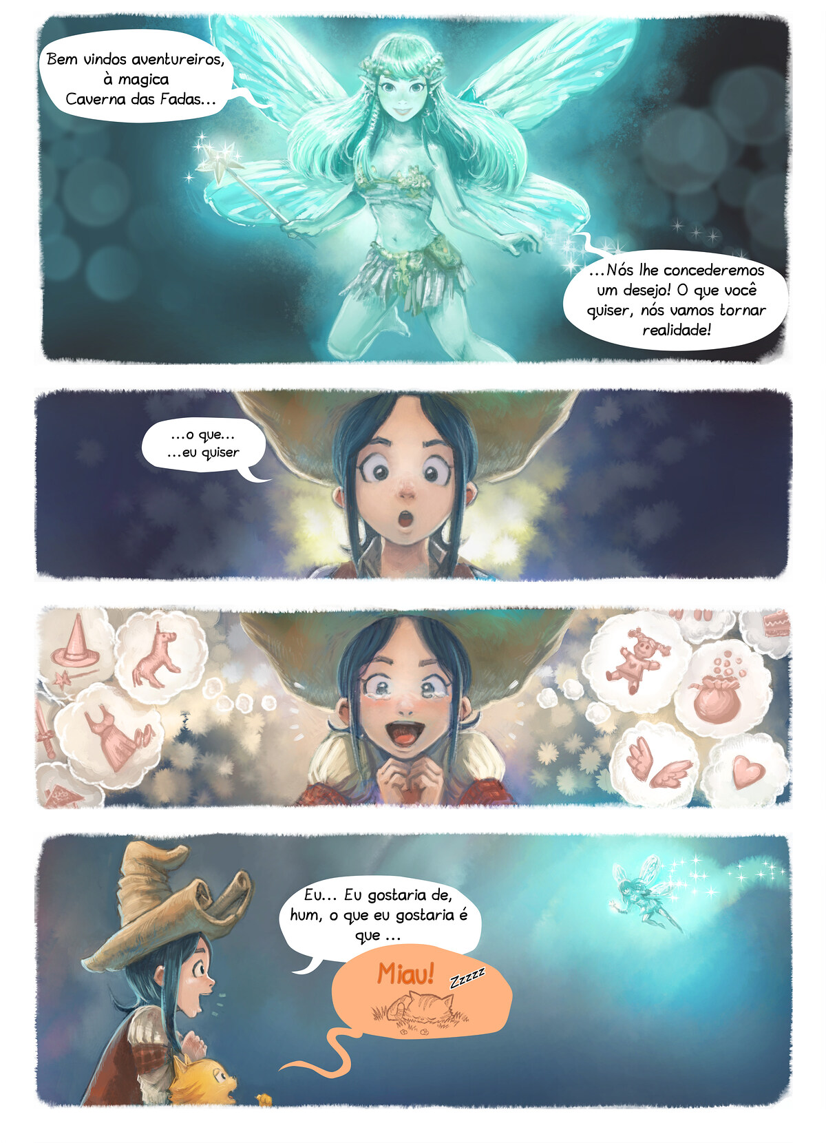 A webcomic page of Pepper&Carrot, episódio 7 [pt], página 4