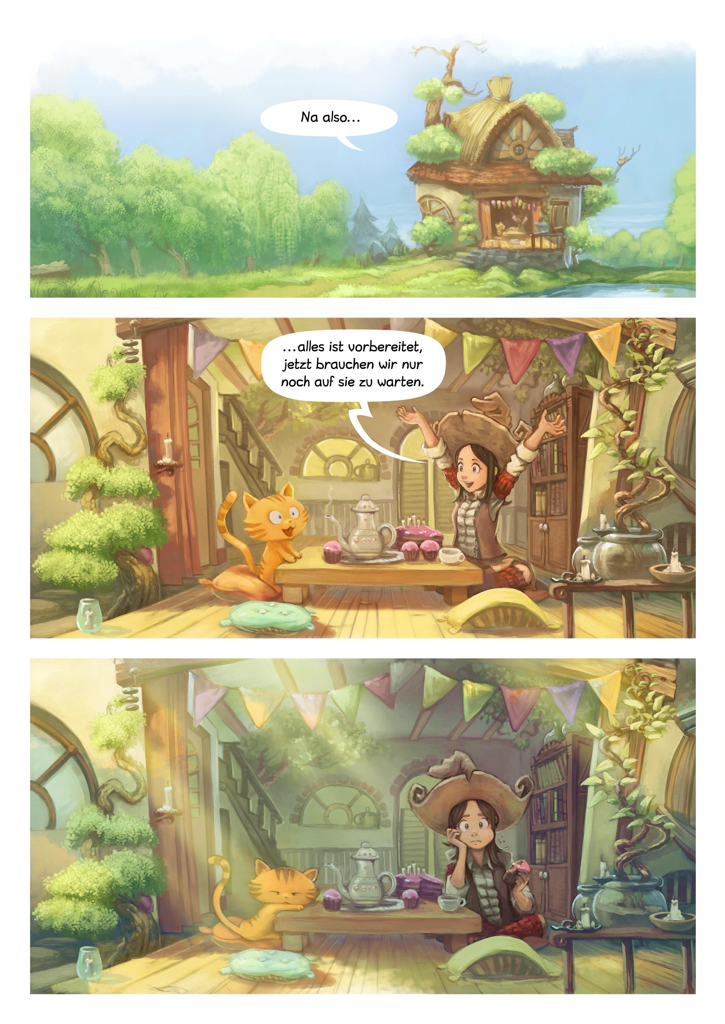 A webcomic page of Pepper&Carrot, Episode 8 [de], Seite 3