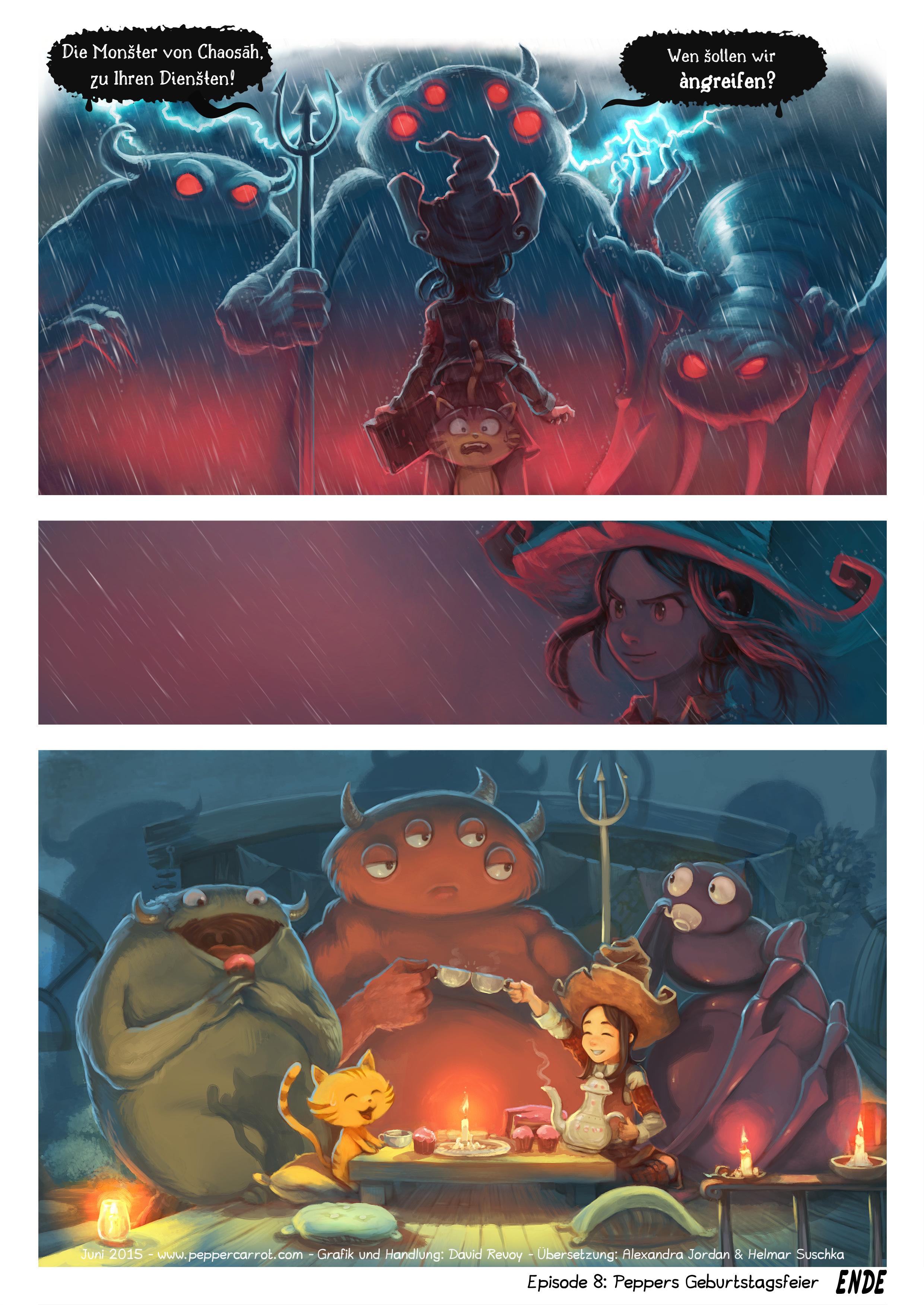 A webcomic page of Pepper&Carrot, Episode 8 [de], Seite 6