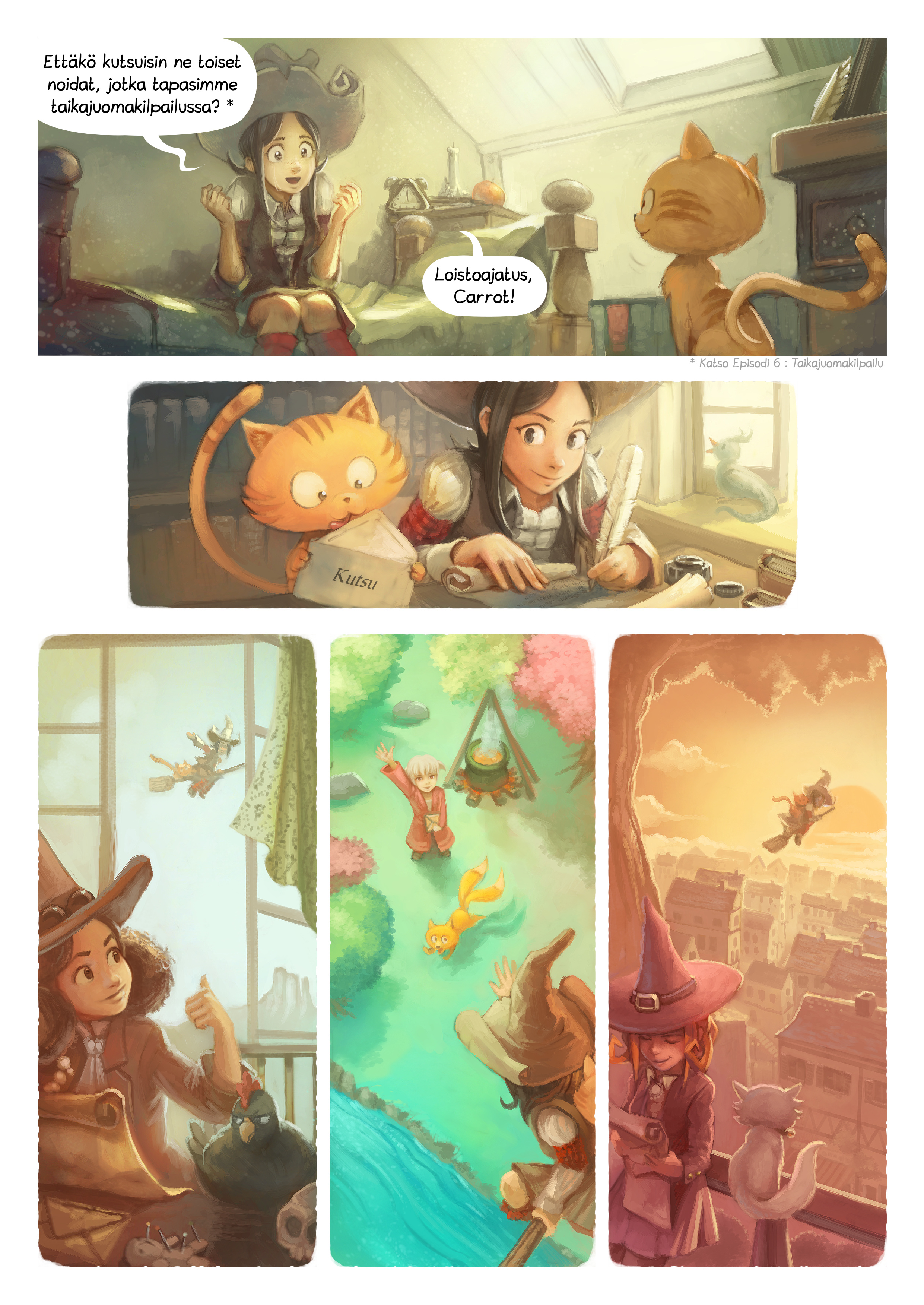 A webcomic page of Pepper&Carrot, episode 8 [fi], page 2