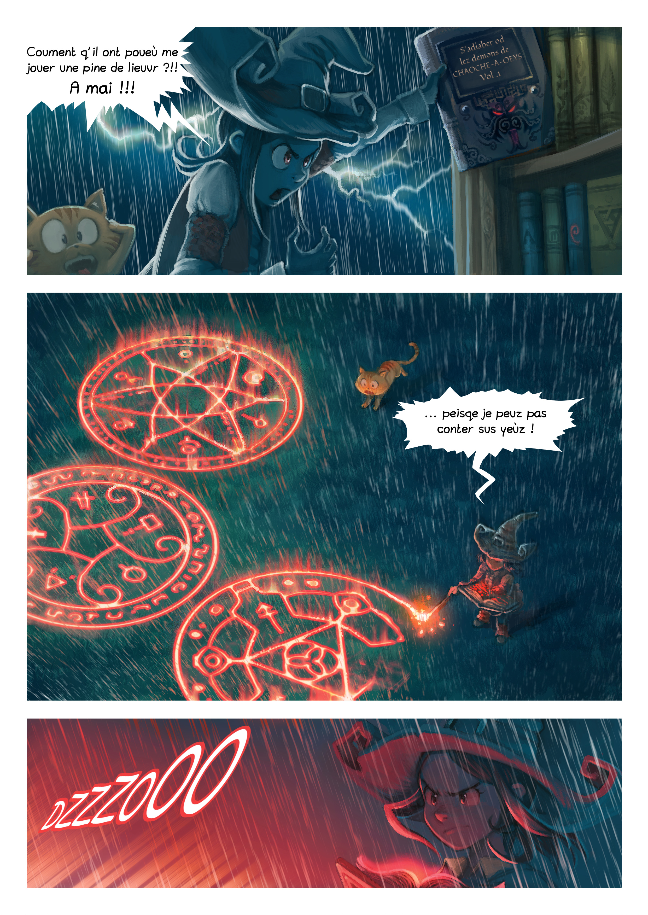 A webcomic page of Pepper&Carrot, episode 8 [go], page 5