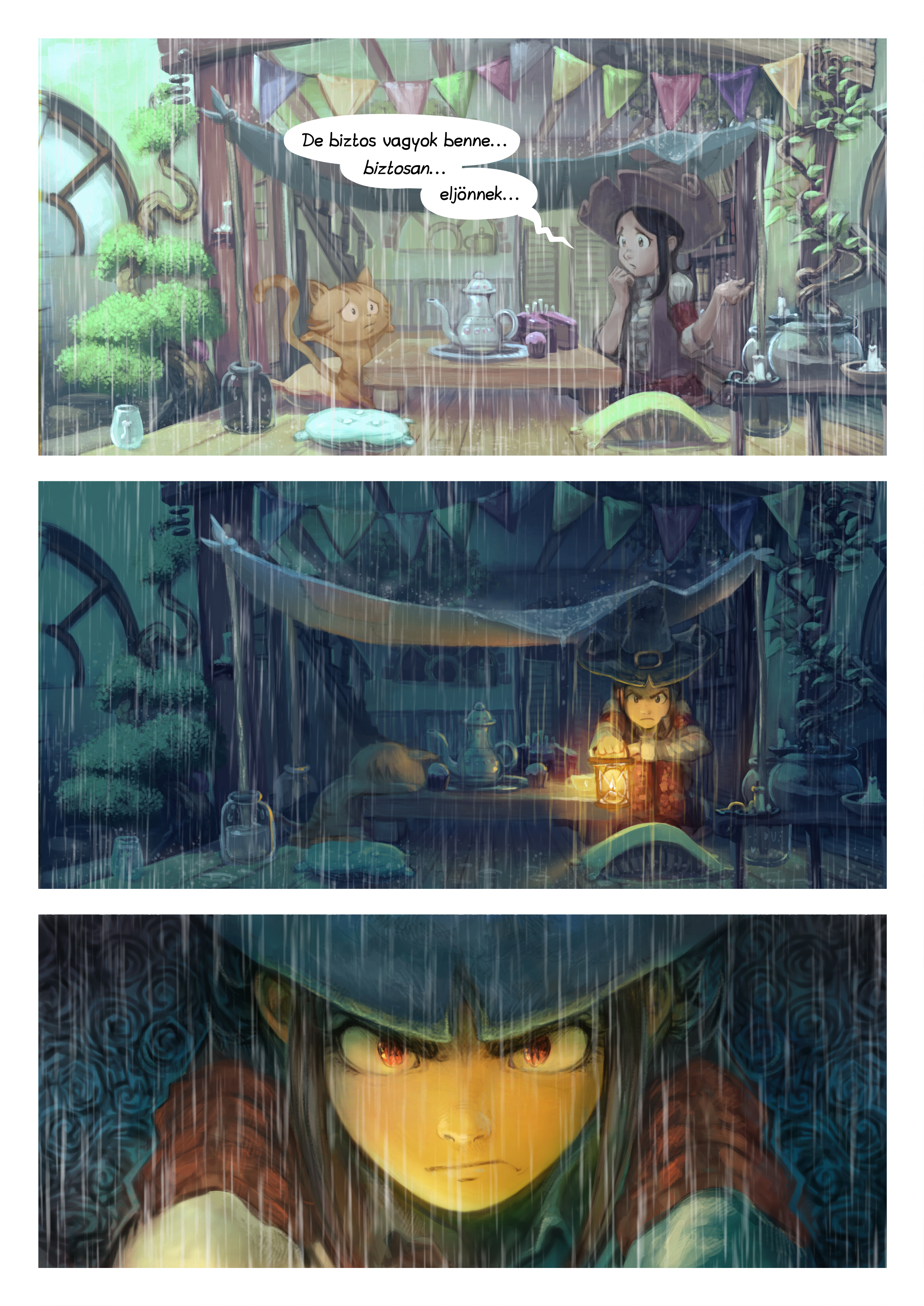 A webcomic page of Pepper&Carrot, epizód 8 [hu], oldal 4