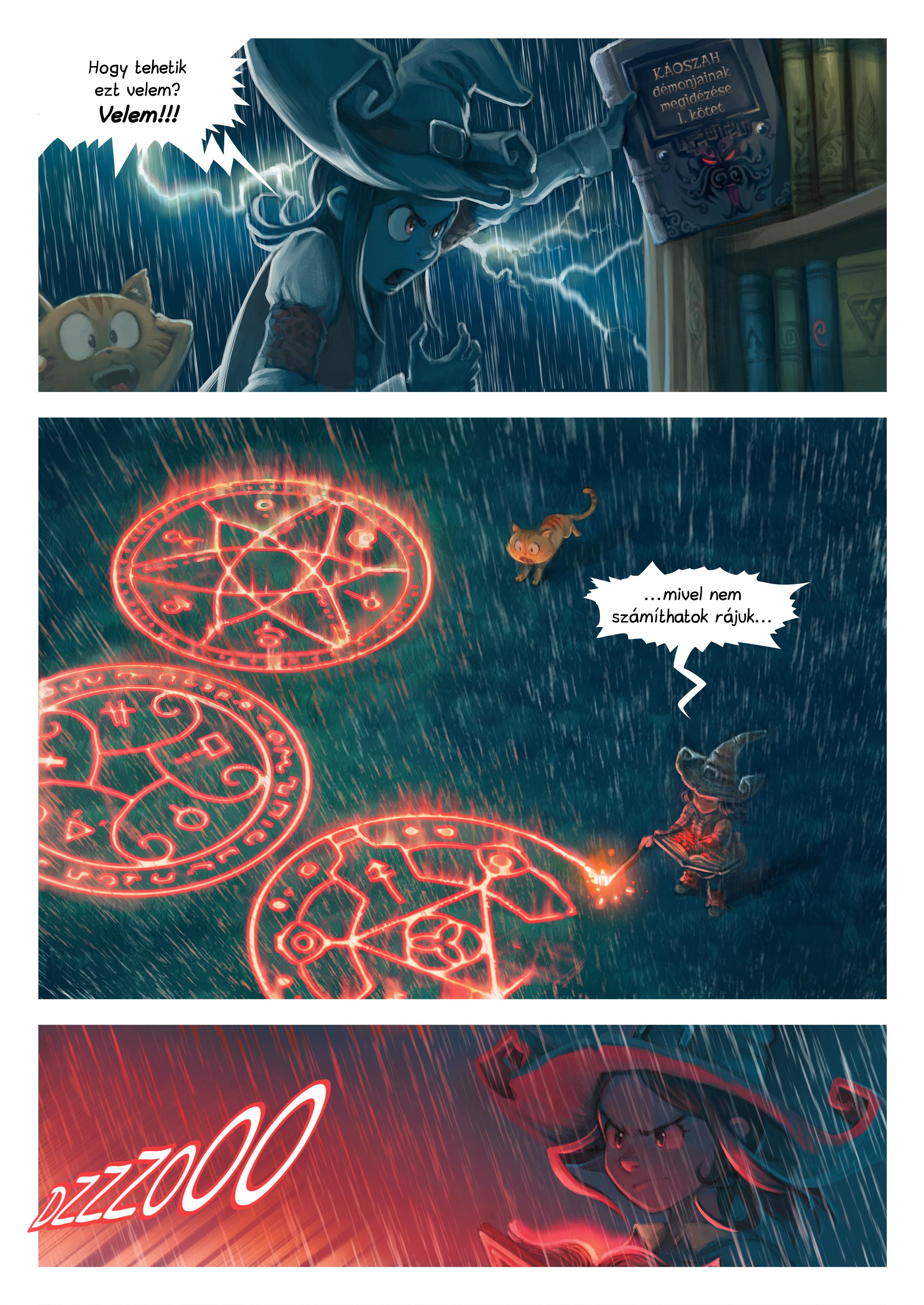 A webcomic page of Pepper&Carrot, epizód 8 [hu], oldal 5