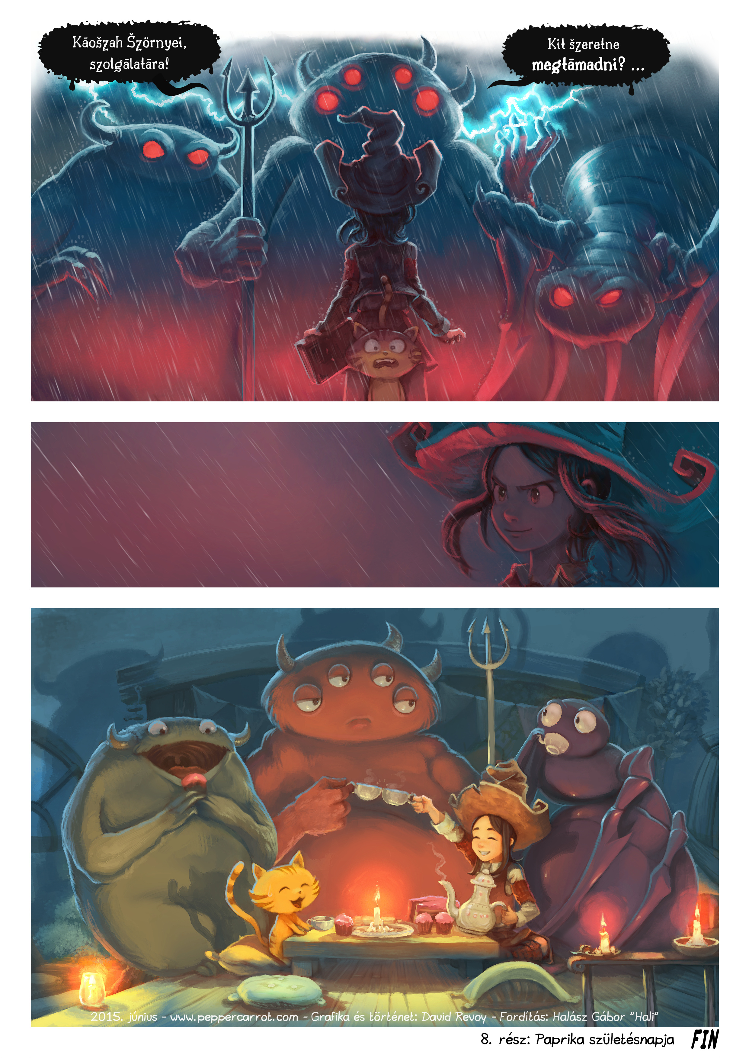 A webcomic page of Pepper&Carrot, epizód 8 [hu], oldal 6