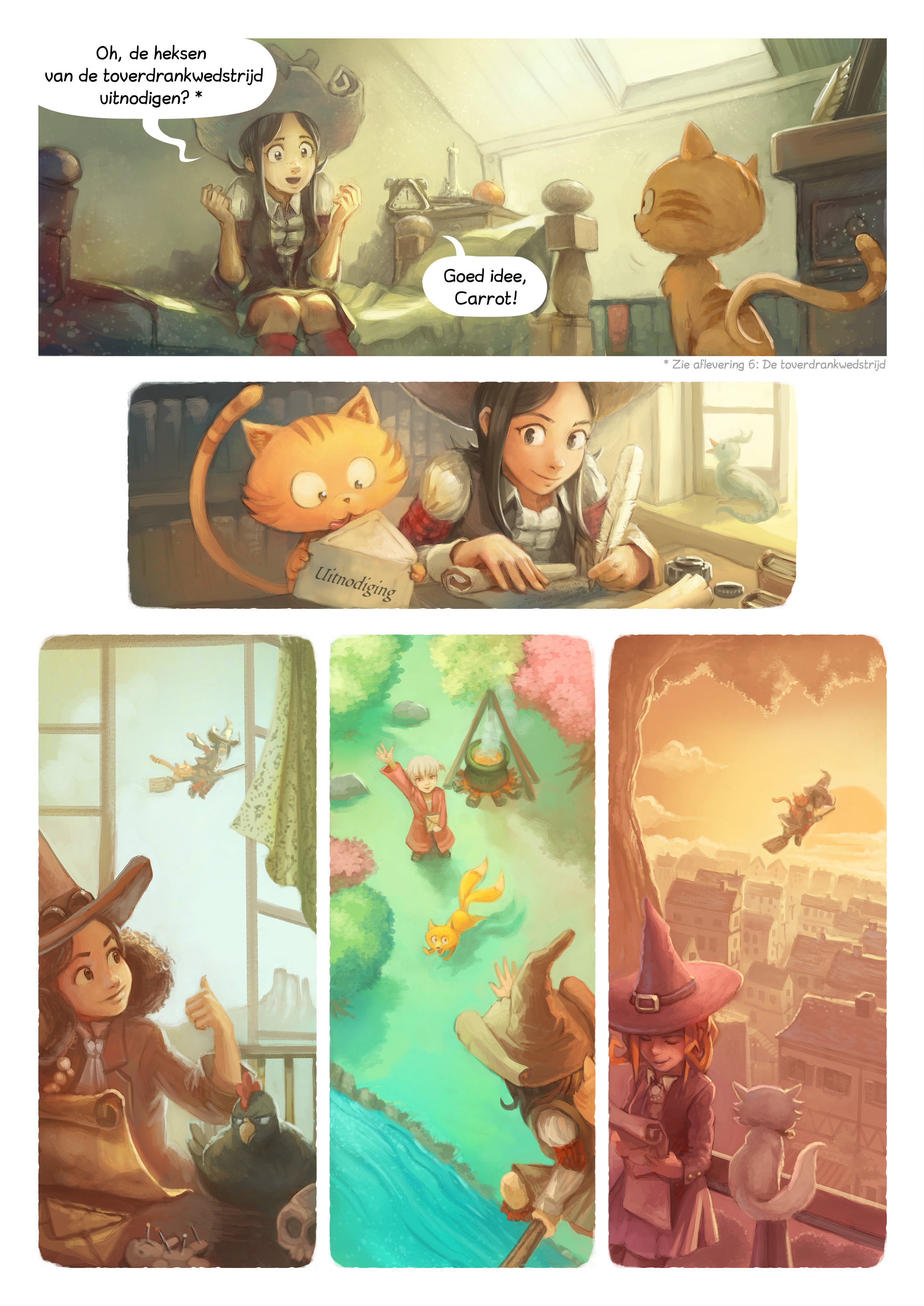 A webcomic page of Pepper&Carrot, aflevering 8 [nl], pagina 2