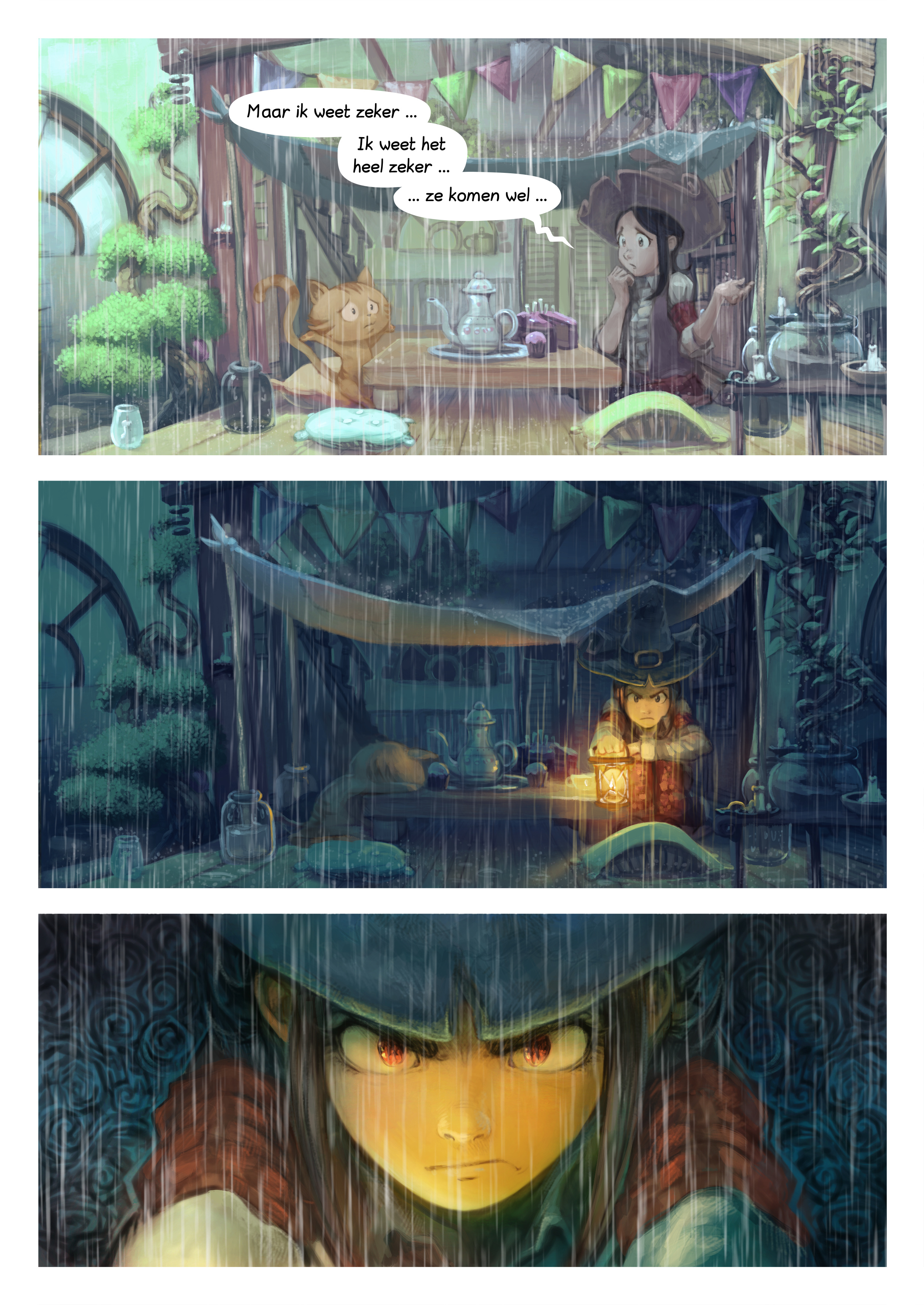 A webcomic page of Pepper&Carrot, aflevering 8 [nl], pagina 4