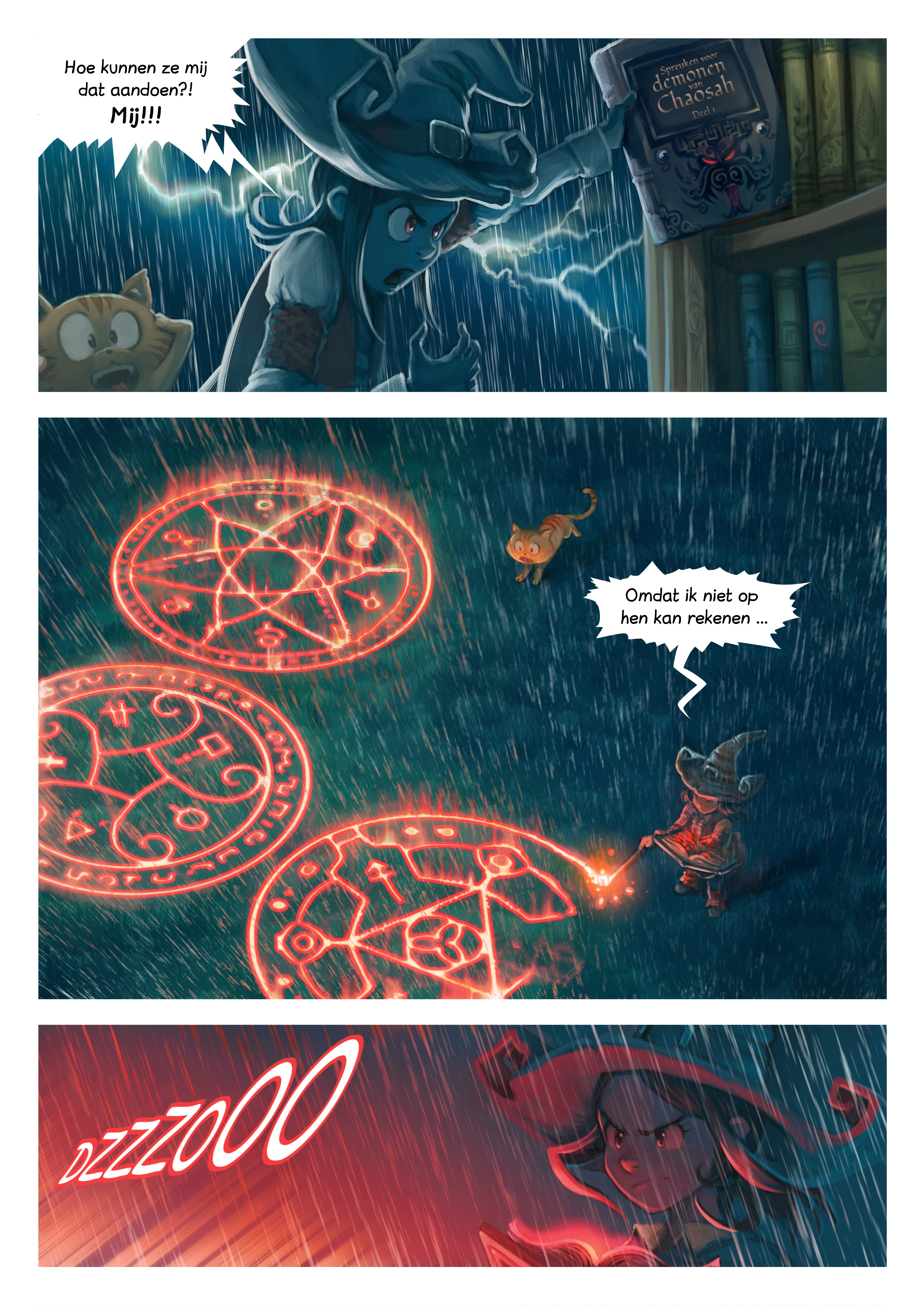 A webcomic page of Pepper&Carrot, aflevering 8 [nl], pagina 5