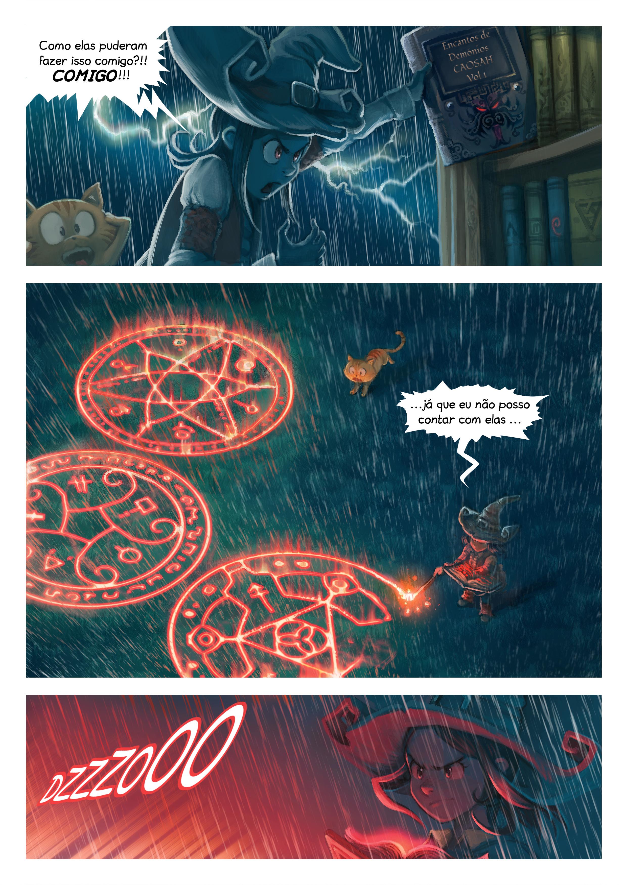 A webcomic page of Pepper&Carrot, episódio 8 [pt], página 5