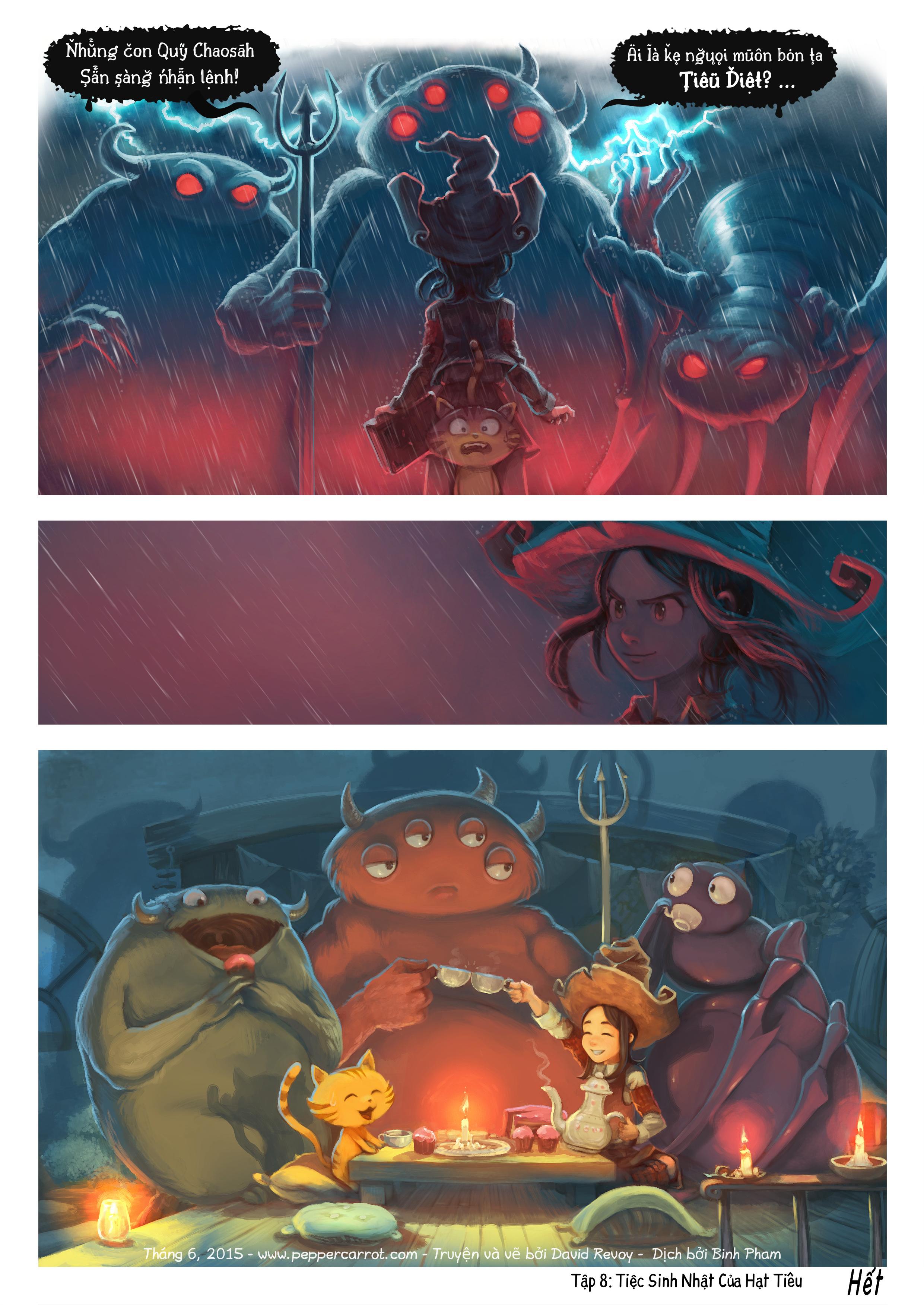 A webcomic page of Pepper&Carrot, Tập 8 [vi], trang 6