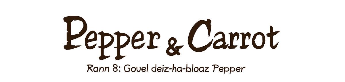 A webcomic page of Pepper&Carrot, rann 8 [br], pajenn 0