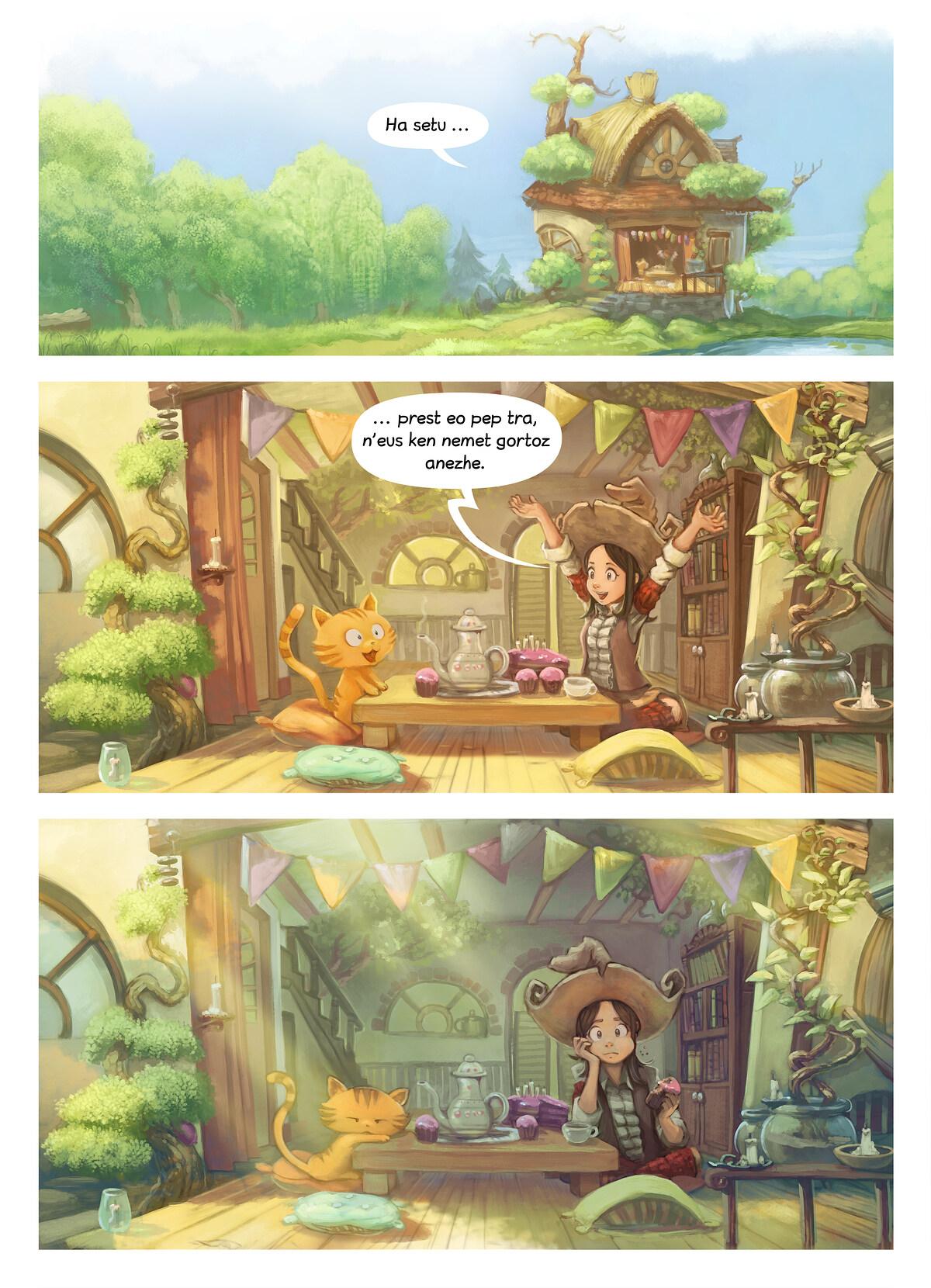 A webcomic page of Pepper&Carrot, rann 8 [br], pajenn 3
