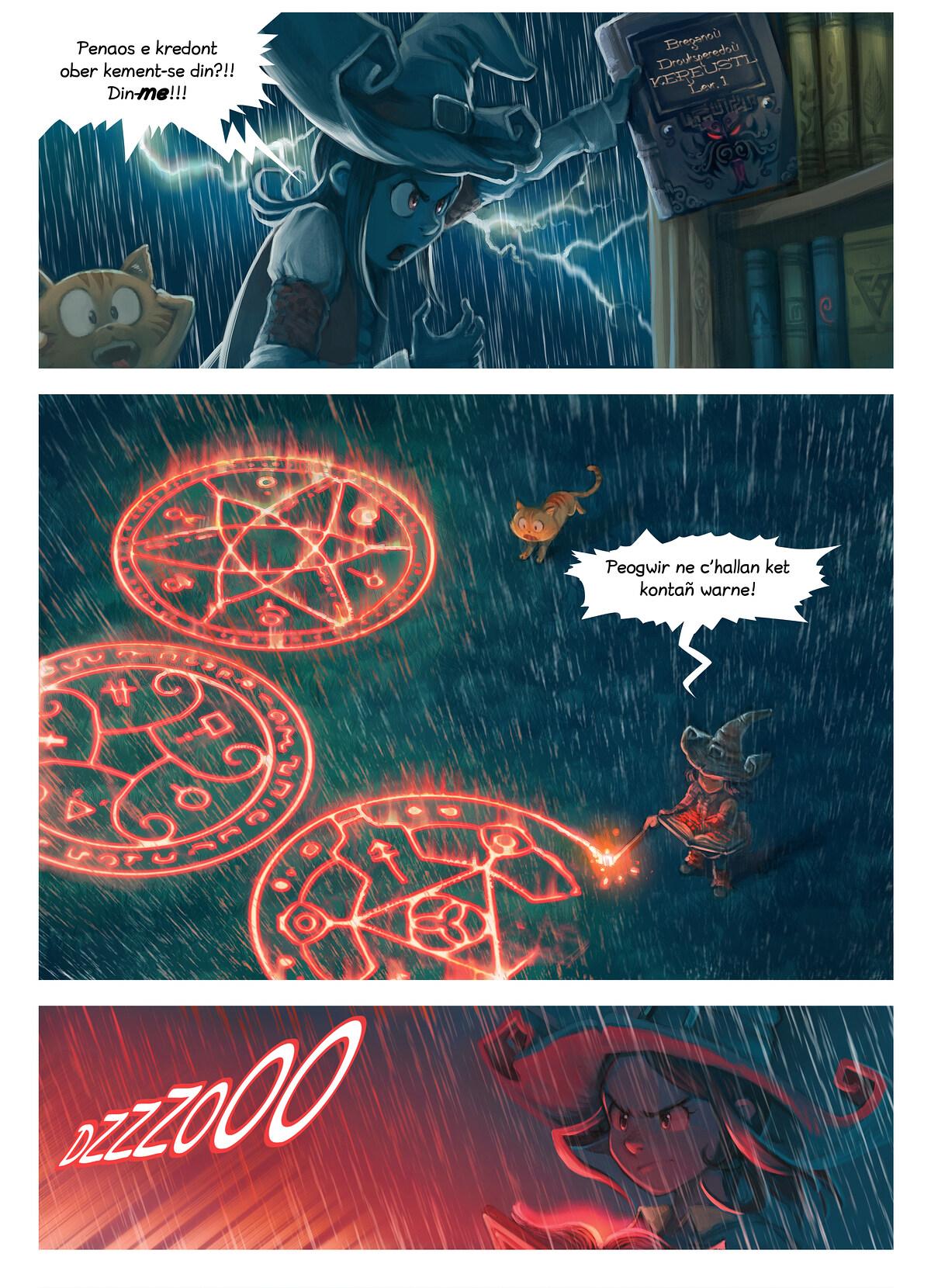 A webcomic page of Pepper&Carrot, rann 8 [br], pajenn 5