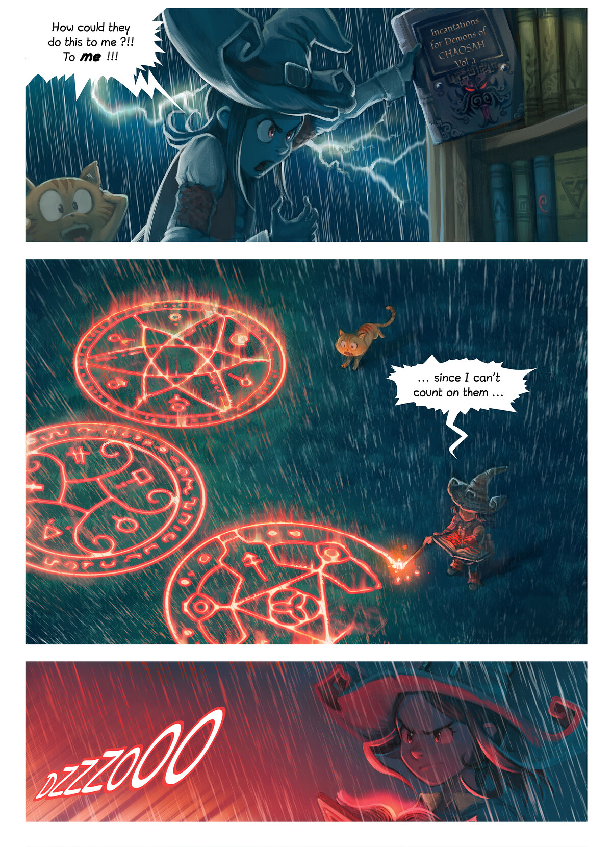 A webcomic page of Pepper&Carrot, episode 8 [si], page 5