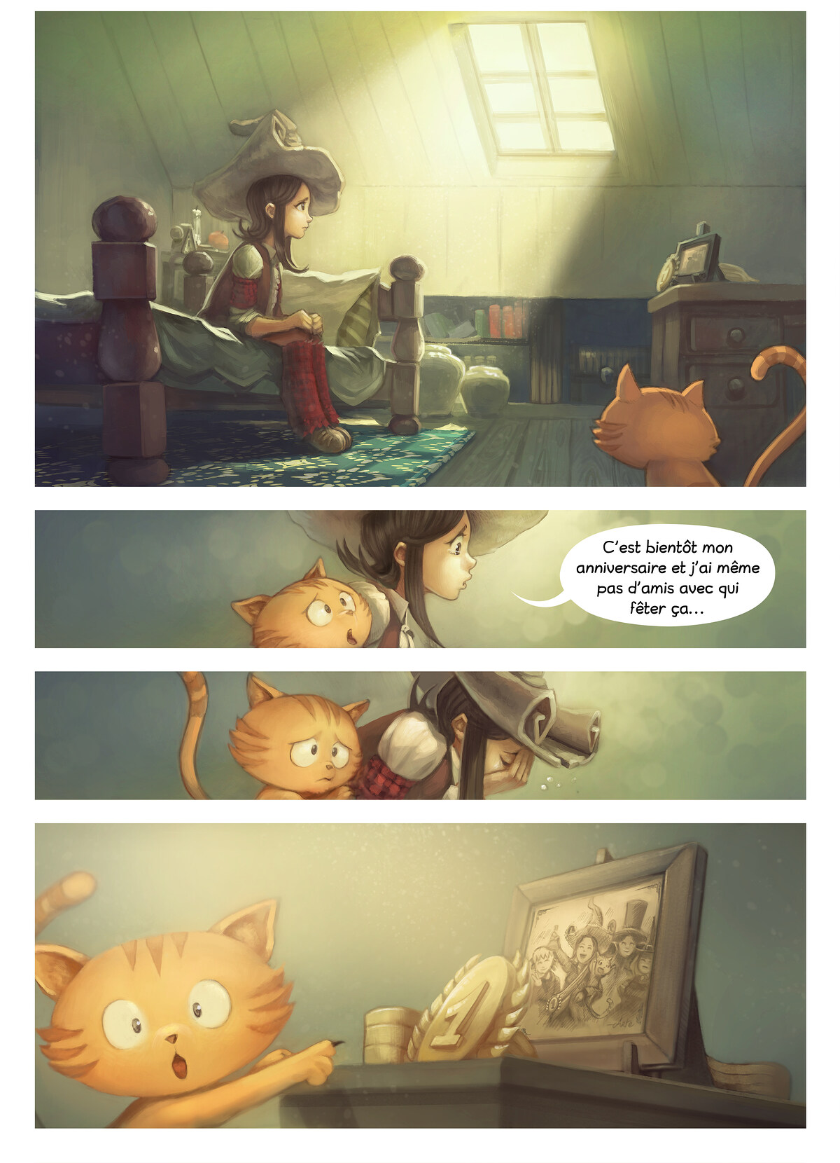 A webcomic page of Pepper&Carrot, épisode 8 [fr], page 1