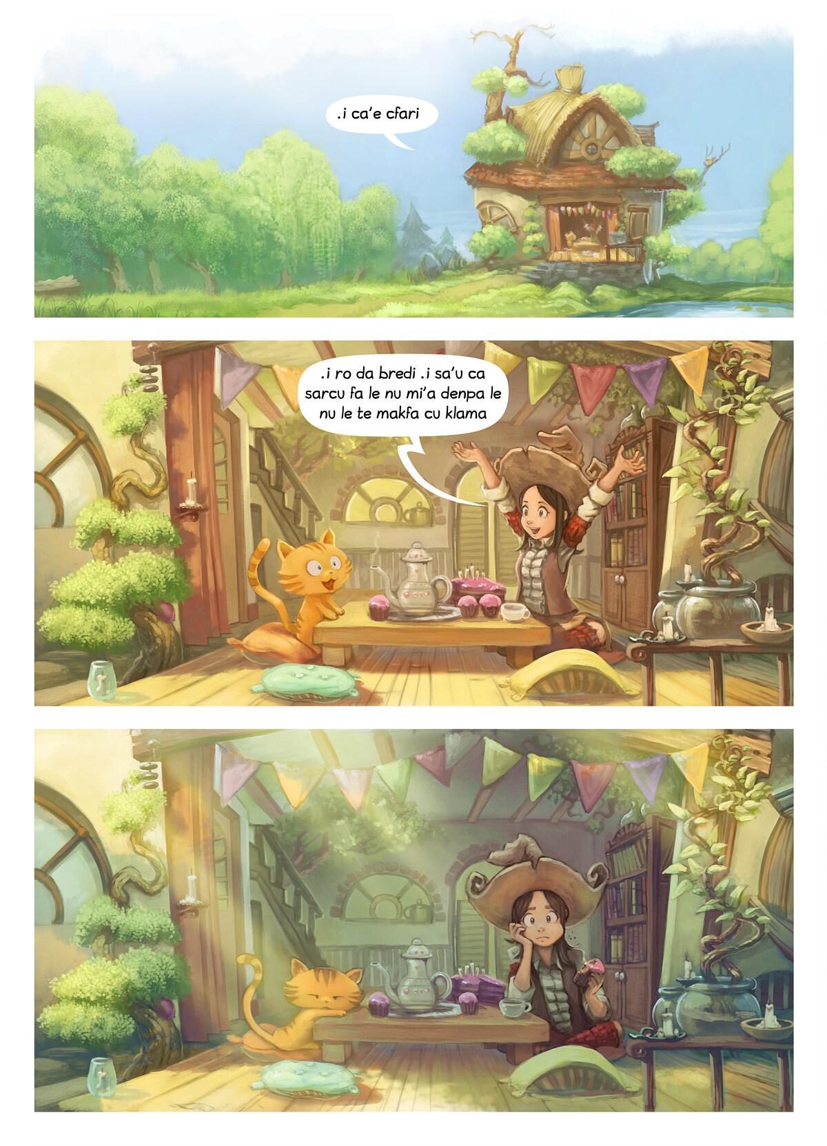 A webcomic page of Pepper&Carrot, pagbu 8 [jb], papri 3