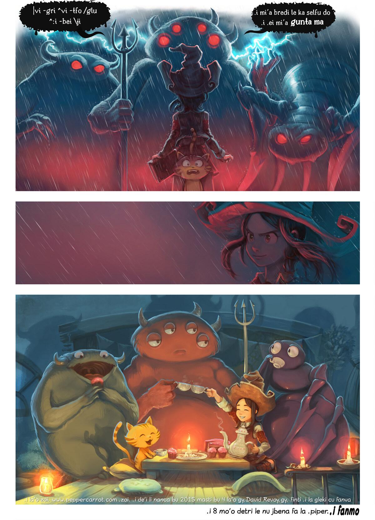A webcomic page of Pepper&Carrot, pagbu 8 [jb], papri 6
