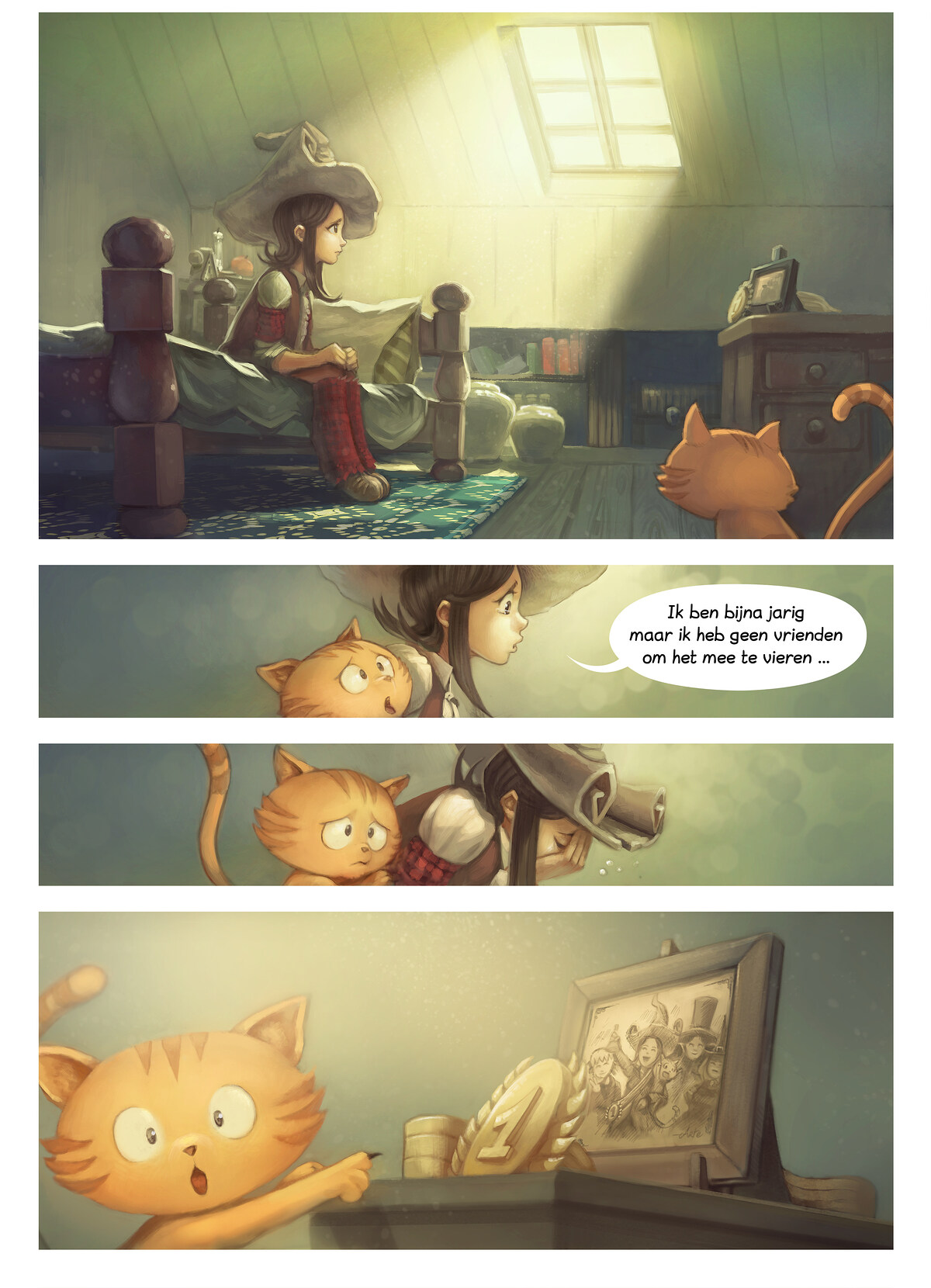 A webcomic page of Pepper&Carrot, aflevering 1 , pagina 1