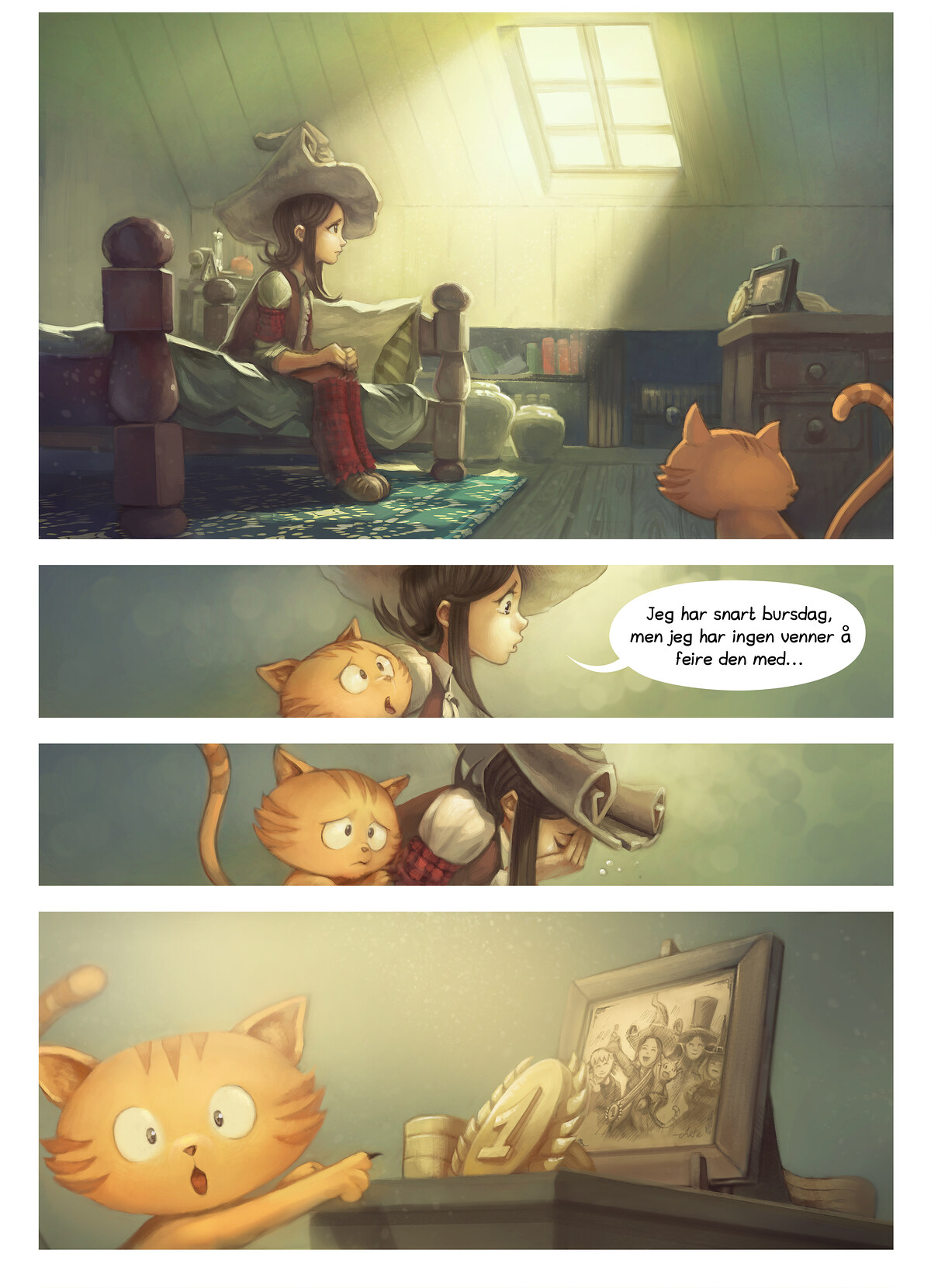 A webcomic page of Pepper&Carrot, episode 8 [no], side 1