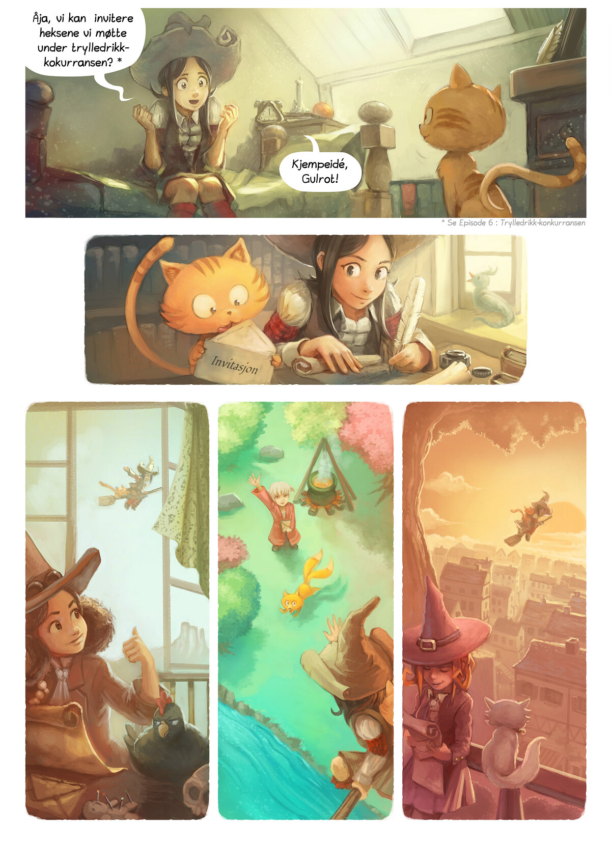 A webcomic page of Pepper&Carrot, episode 8 [no], side 2
