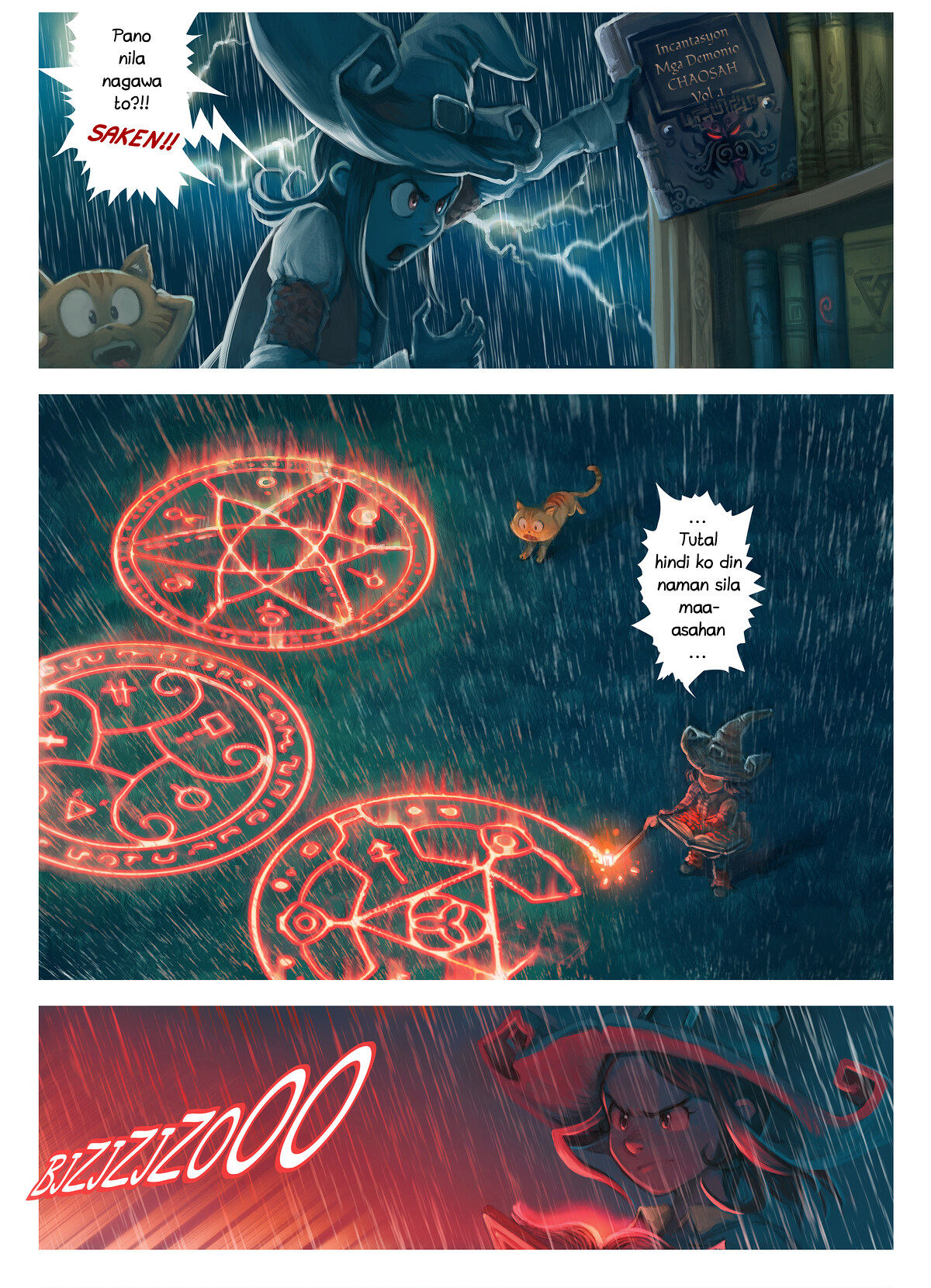 A webcomic page of Pepper&Carrot, episode 8 [ph], page 5
