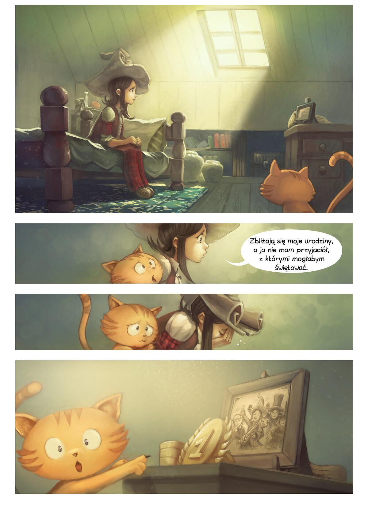 A webcomic page of Pepper&Carrot, odcinek 8 [pl], strona 1