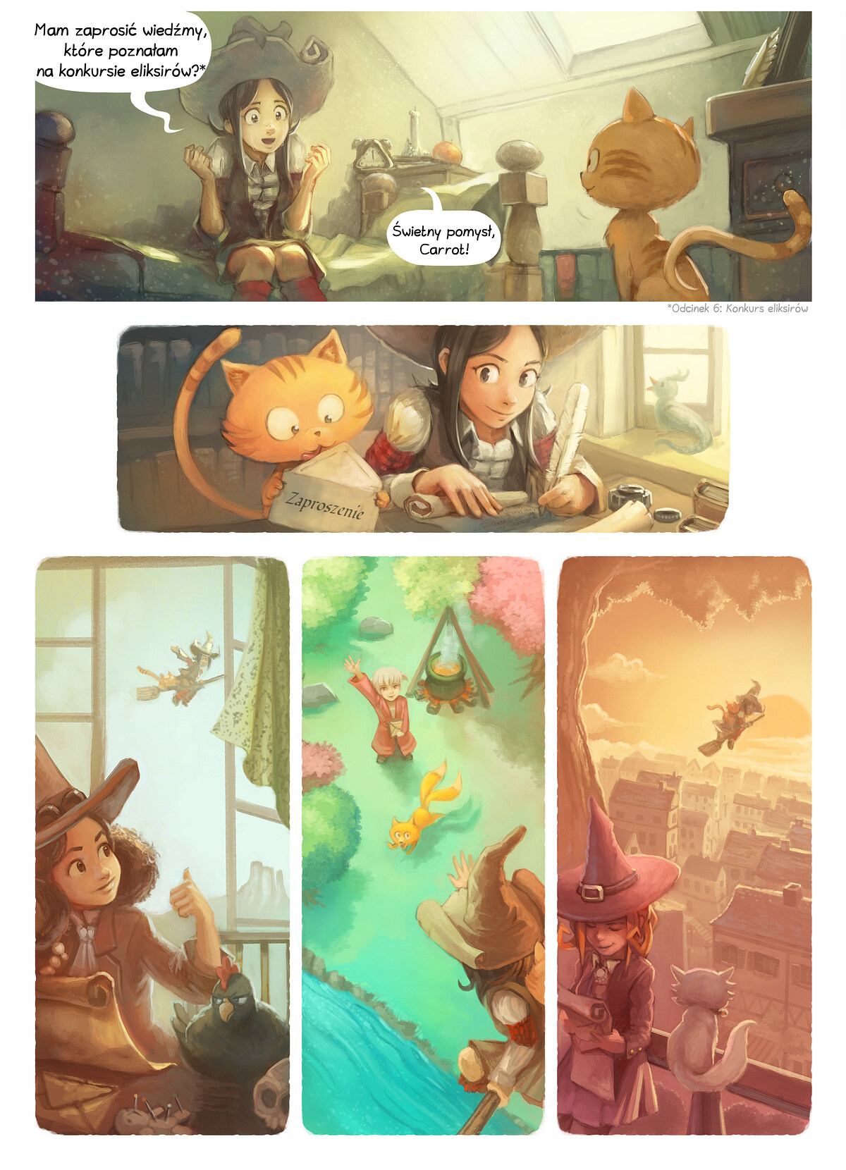 A webcomic page of Pepper&Carrot, odcinek 8 [pl], strona 2