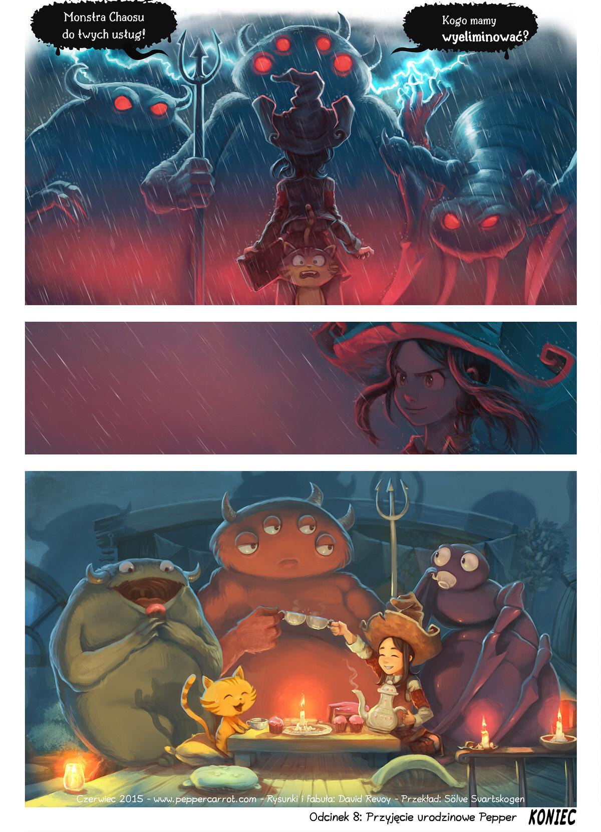 A webcomic page of Pepper&Carrot, odcinek 8 [pl], strona 6