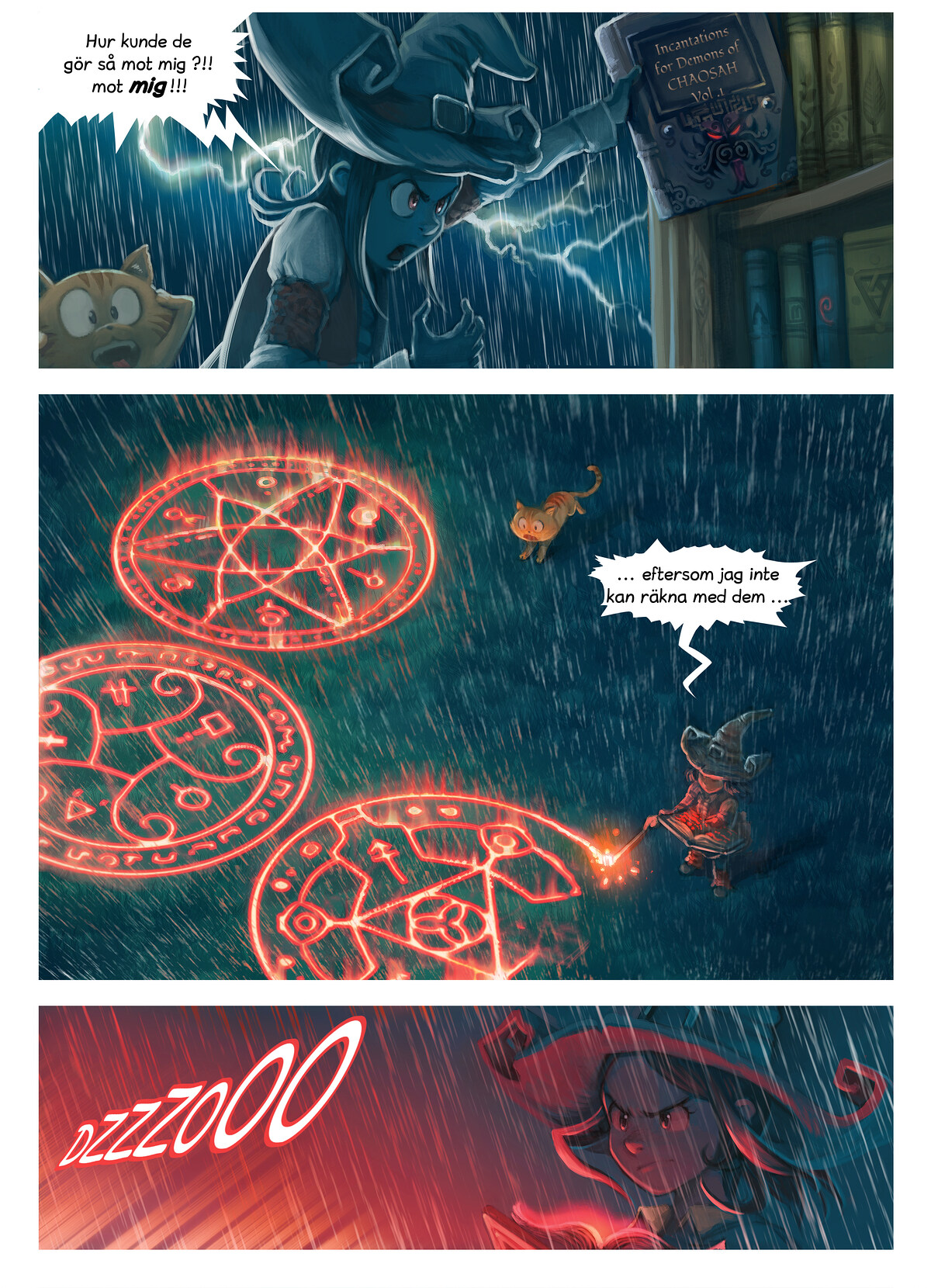 A webcomic page of Pepper&Carrot, episode 8 [sv], page 5