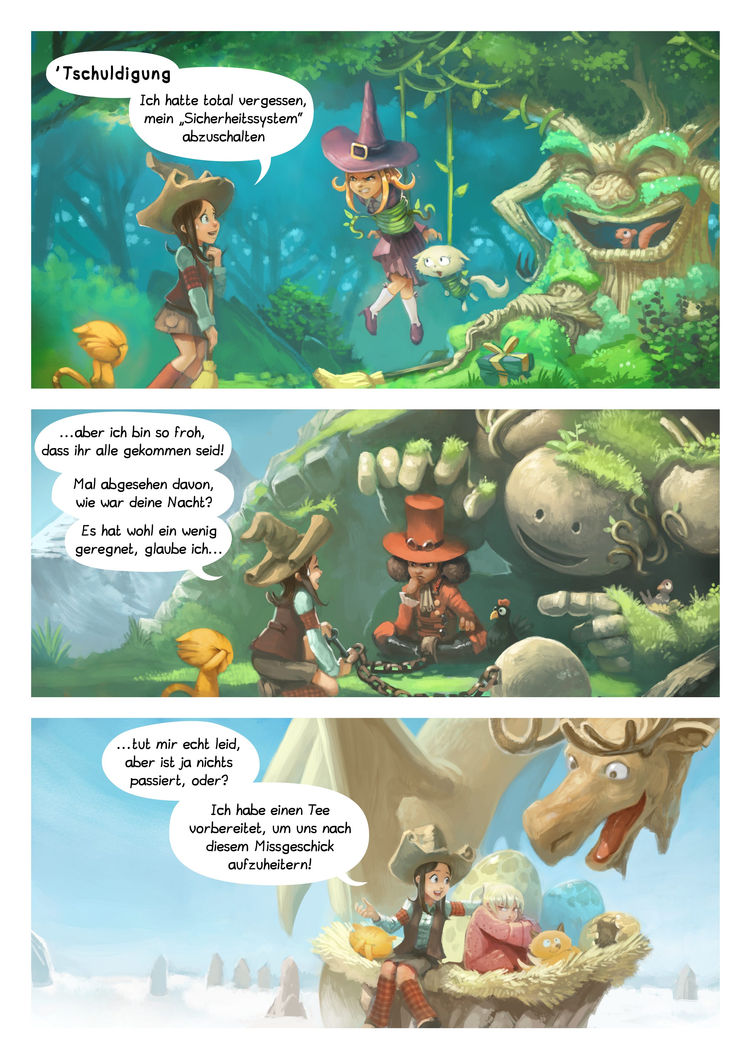 A webcomic page of Pepper&Carrot, Episode 9 [de], Seite 2